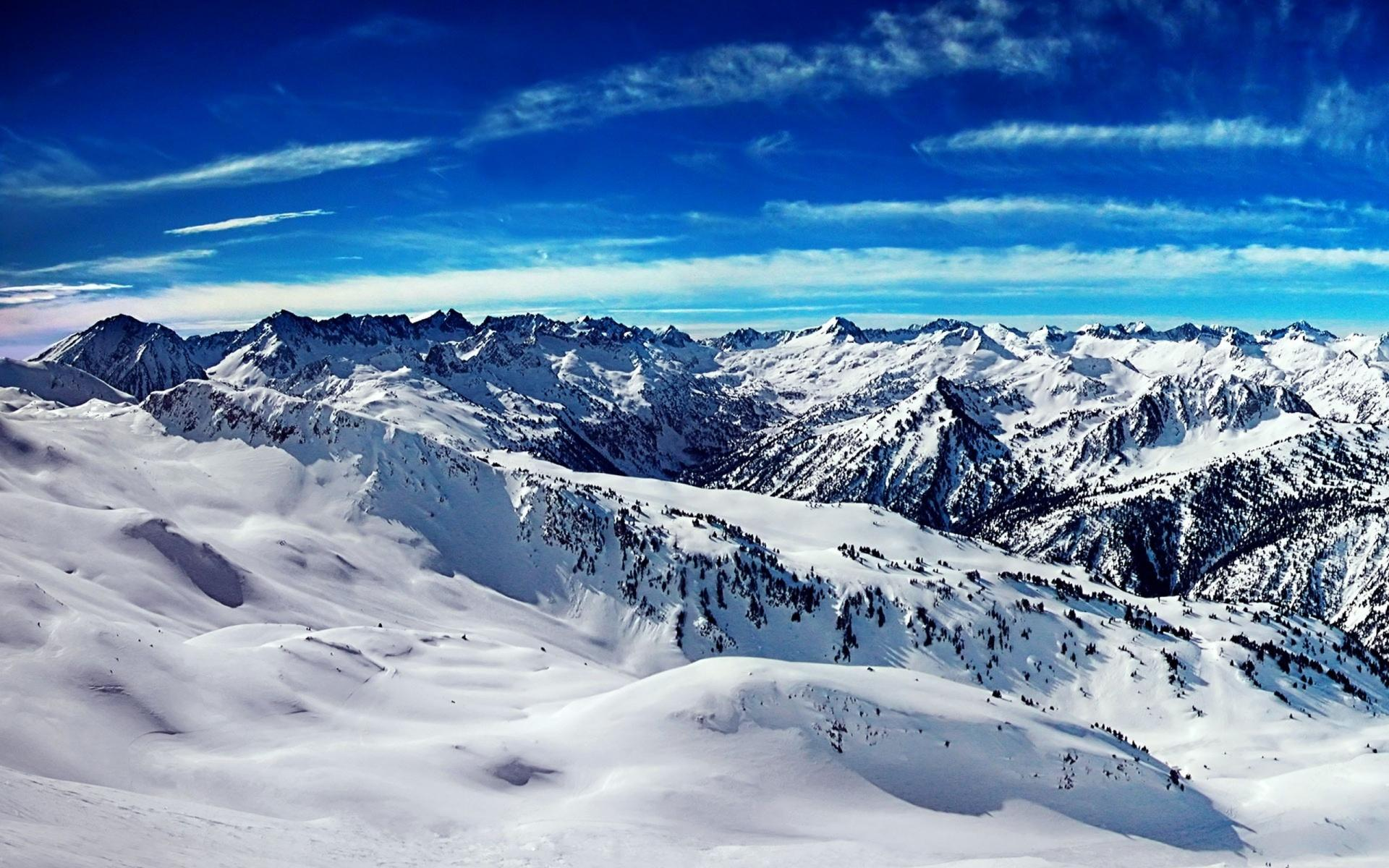 Cold Snowy Mountainscape Wallpaper Details and Download Free