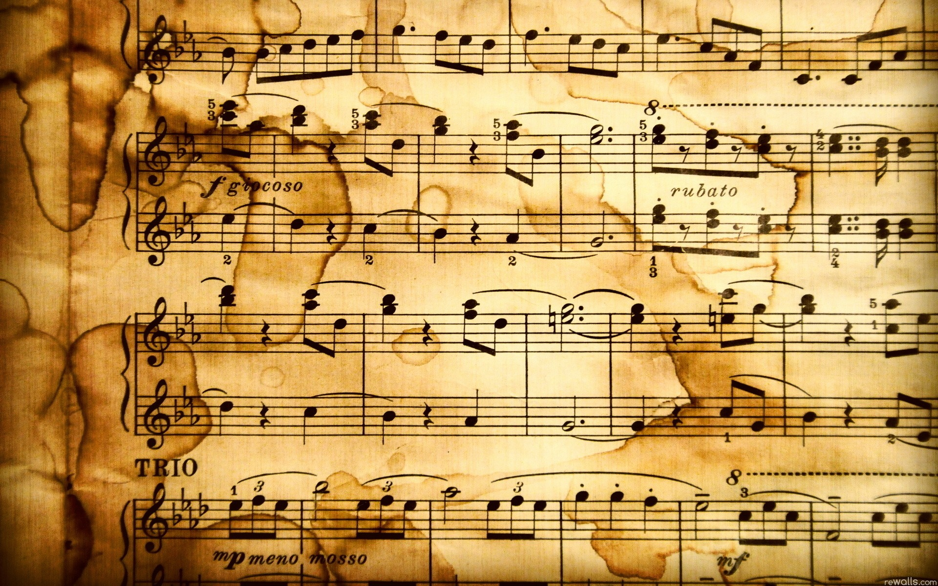 Free Music Notes Wallpaper