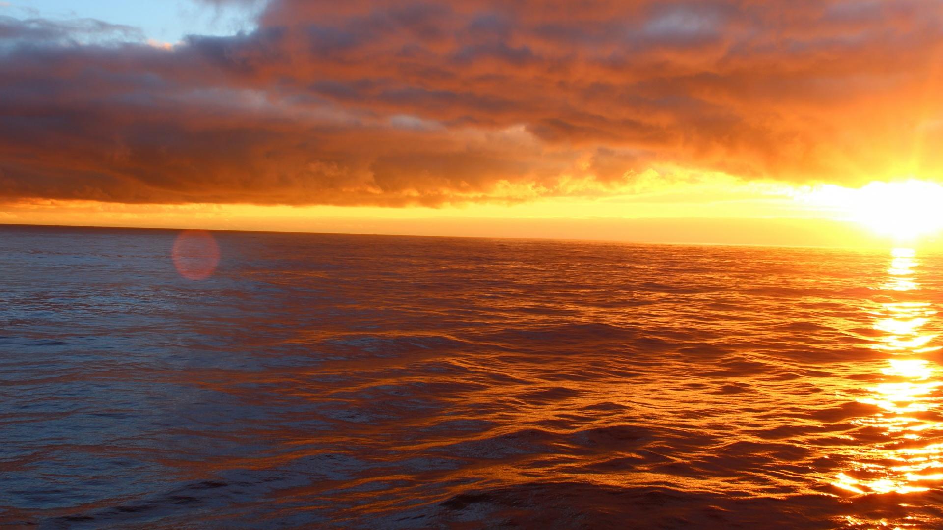Free Ocean Sunset Wallpaper