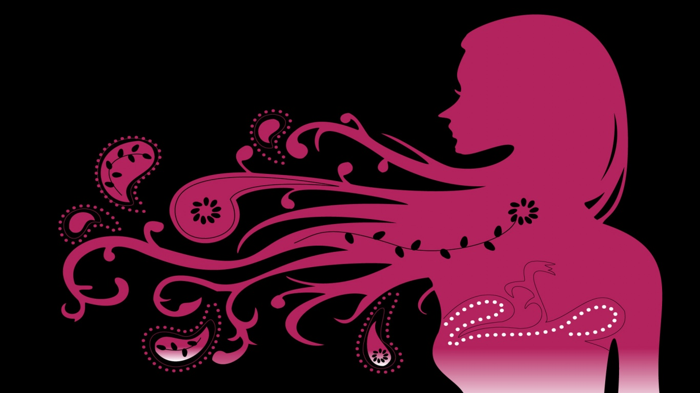 Pink and Black Wallpapers Images All Free 1366x768px