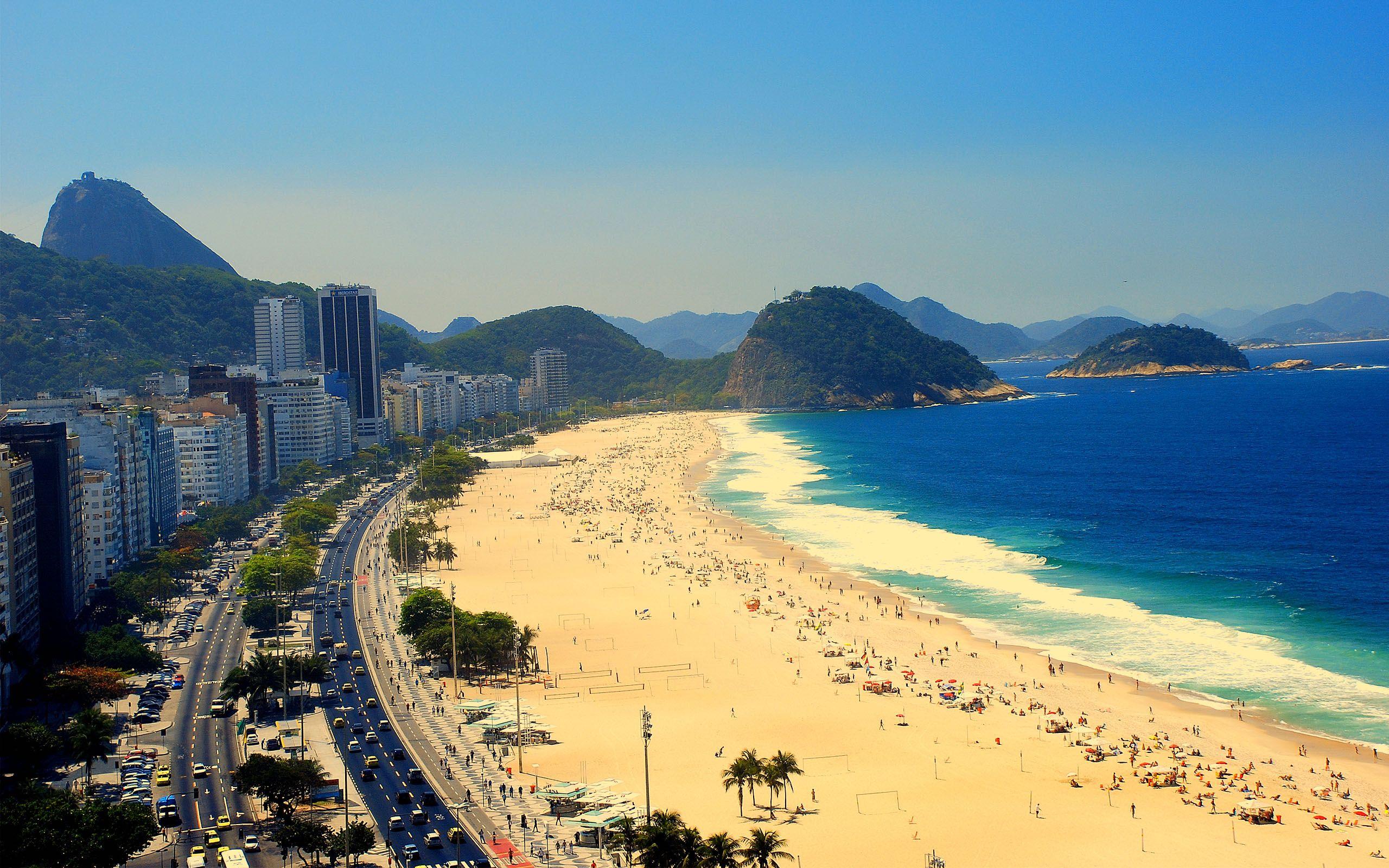copacabana beach rio de janeiro city hd wallpapers top desktop background hd widescreen wallpaper of rio