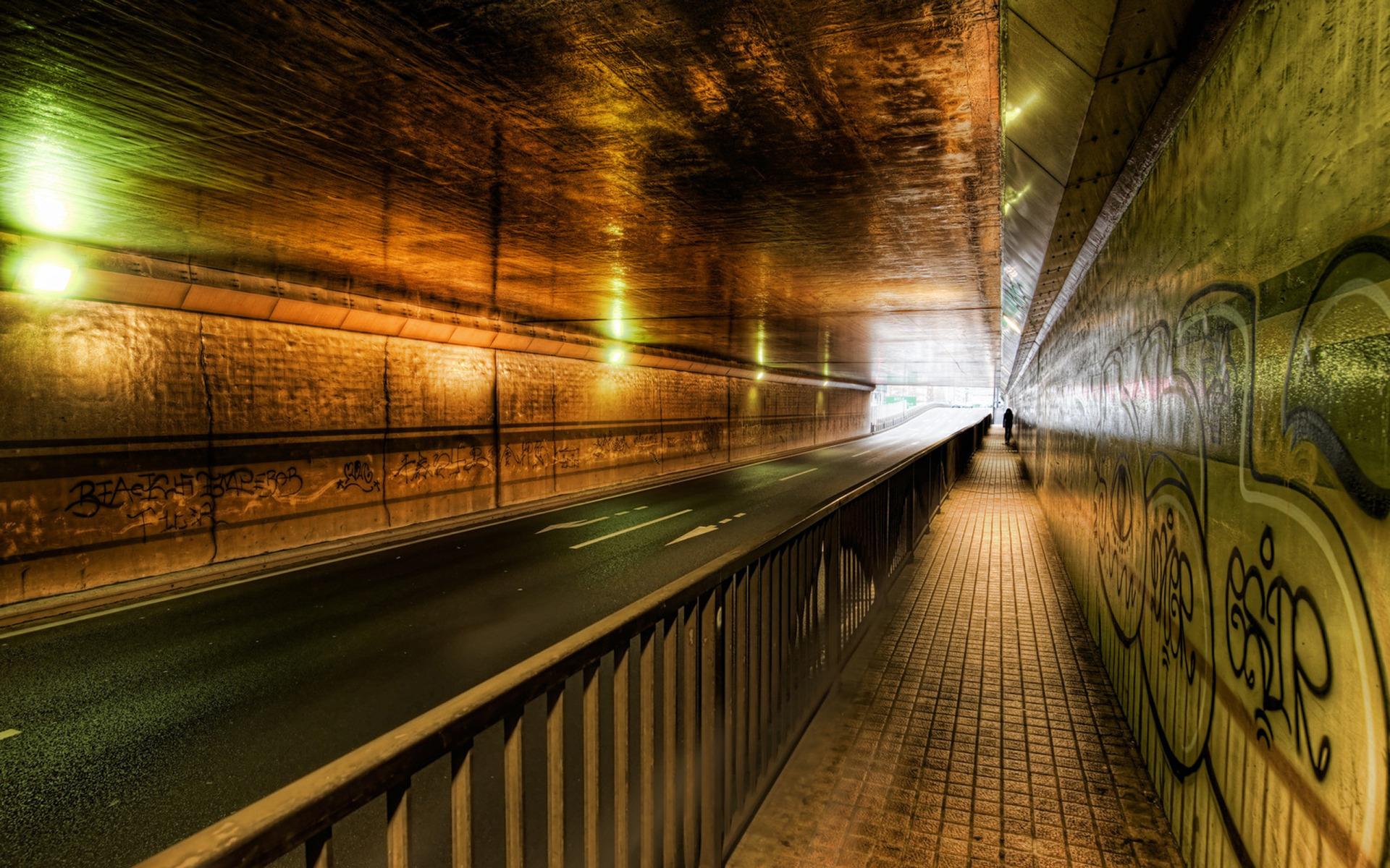 Road Tunnel Wallpaper HD
