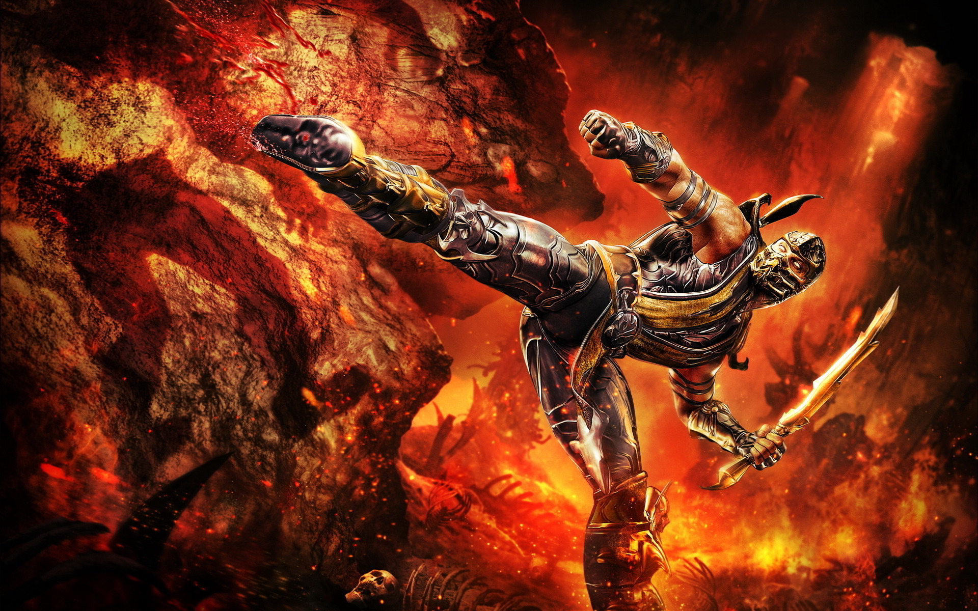 Free Scorpion Mortal Kombat Wallpaper