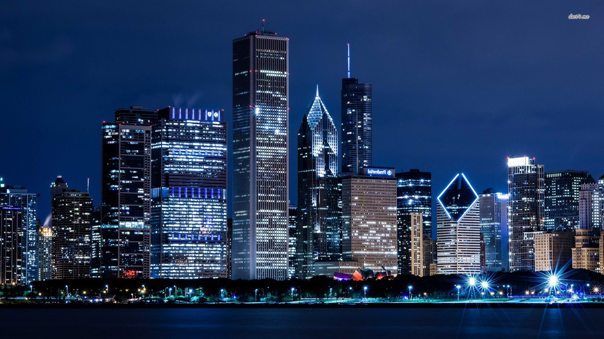 Chicago Skyline Free City Wallpaper Download 1920x1080px
