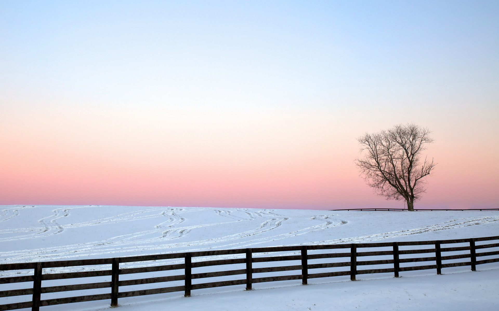 Free Snow Fence Wallpaper