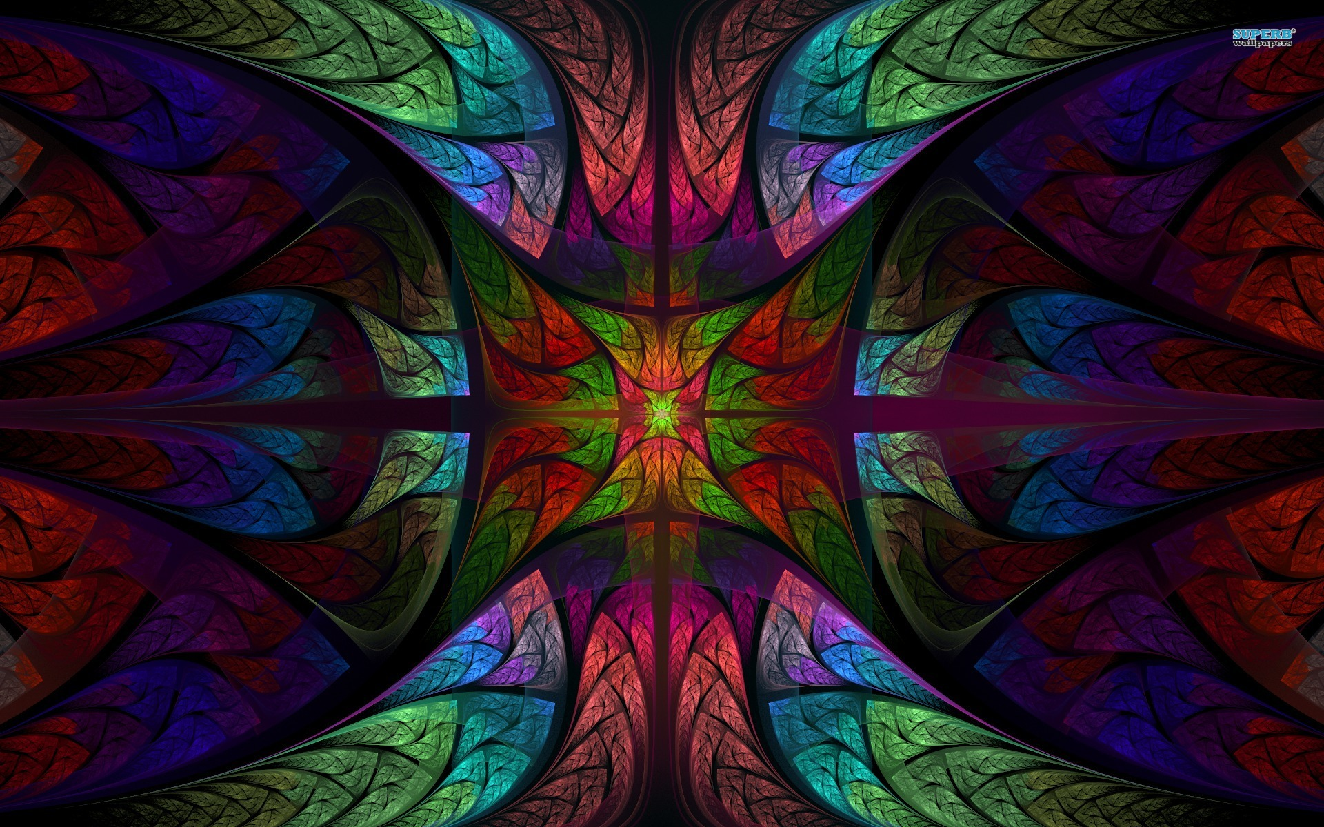 Stained glass wallpaper 1920x1200