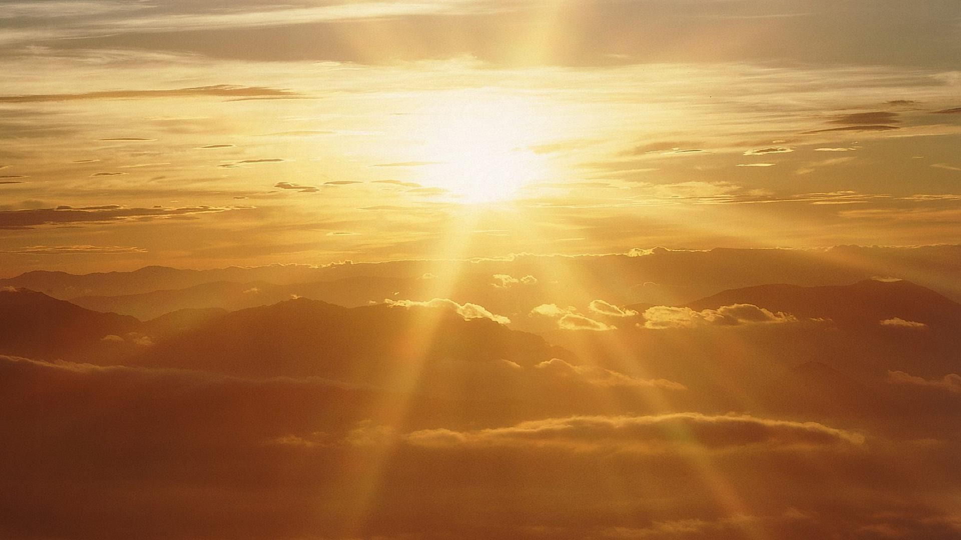 Free Sun Rays Wallpaper