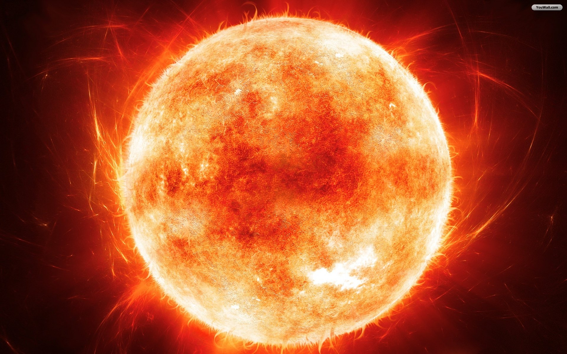 Fascinating Burning Sun Wallpaper 1920x1200px