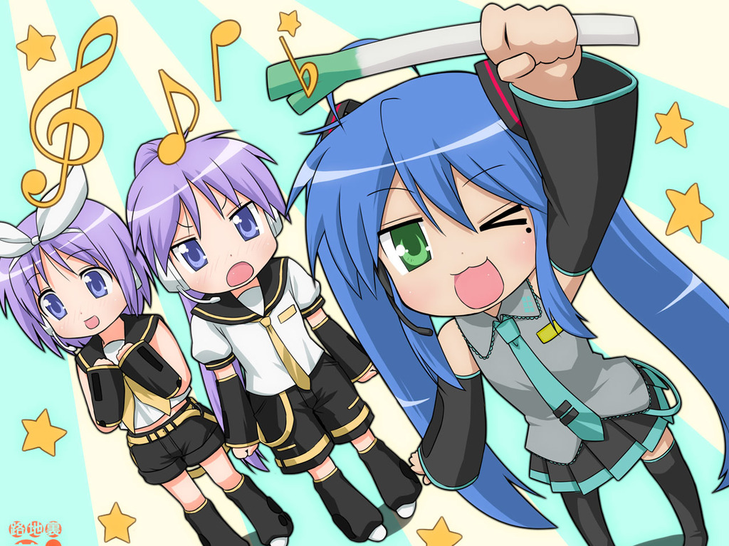 Free Lucky Star Vocaloid Wallpaper Download The 1024x768px