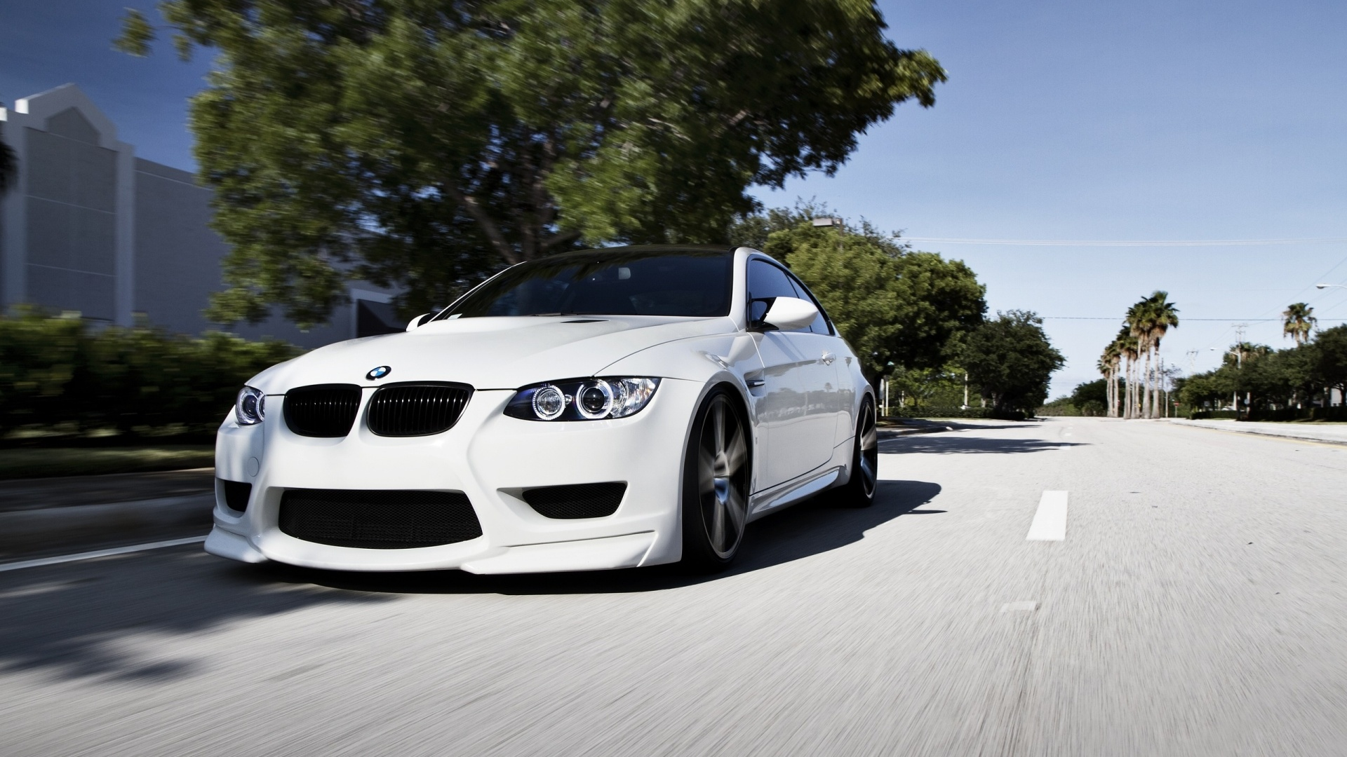 Free White BMW Wallpaper