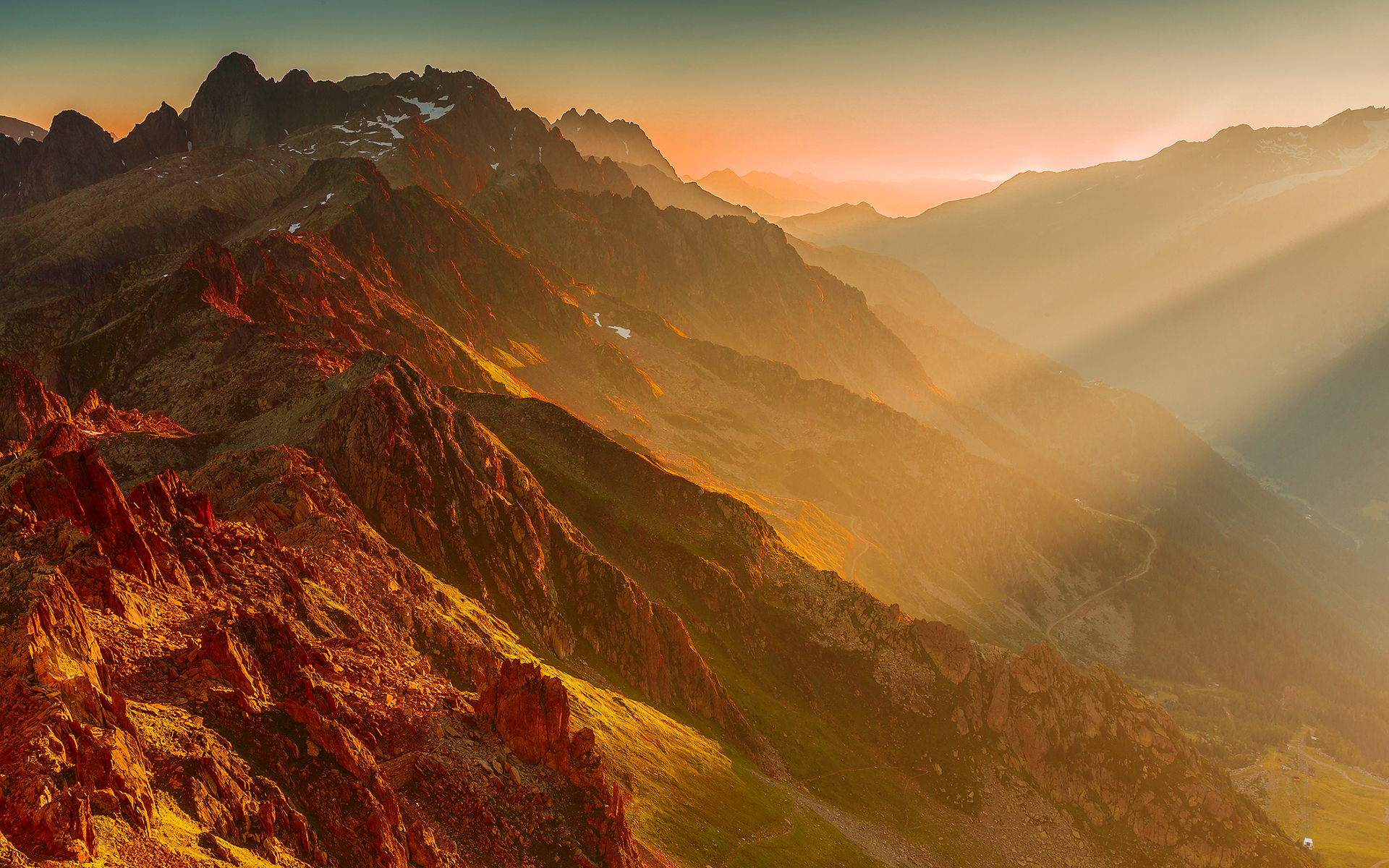 French alps sunset