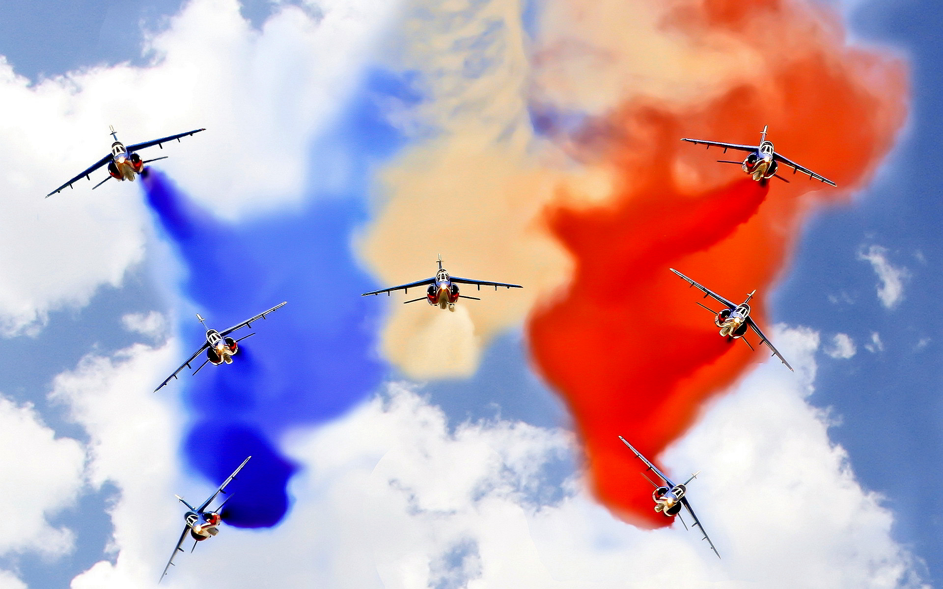 French flag airshow