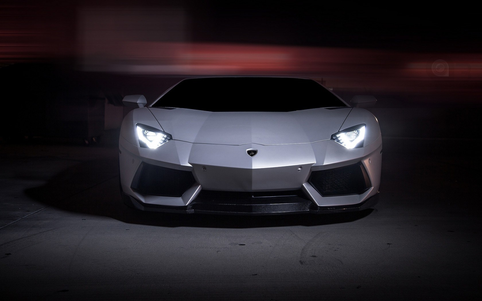 Front Lamborghini Aventador Lp700 4 Lights Wallpaper 1680x1050