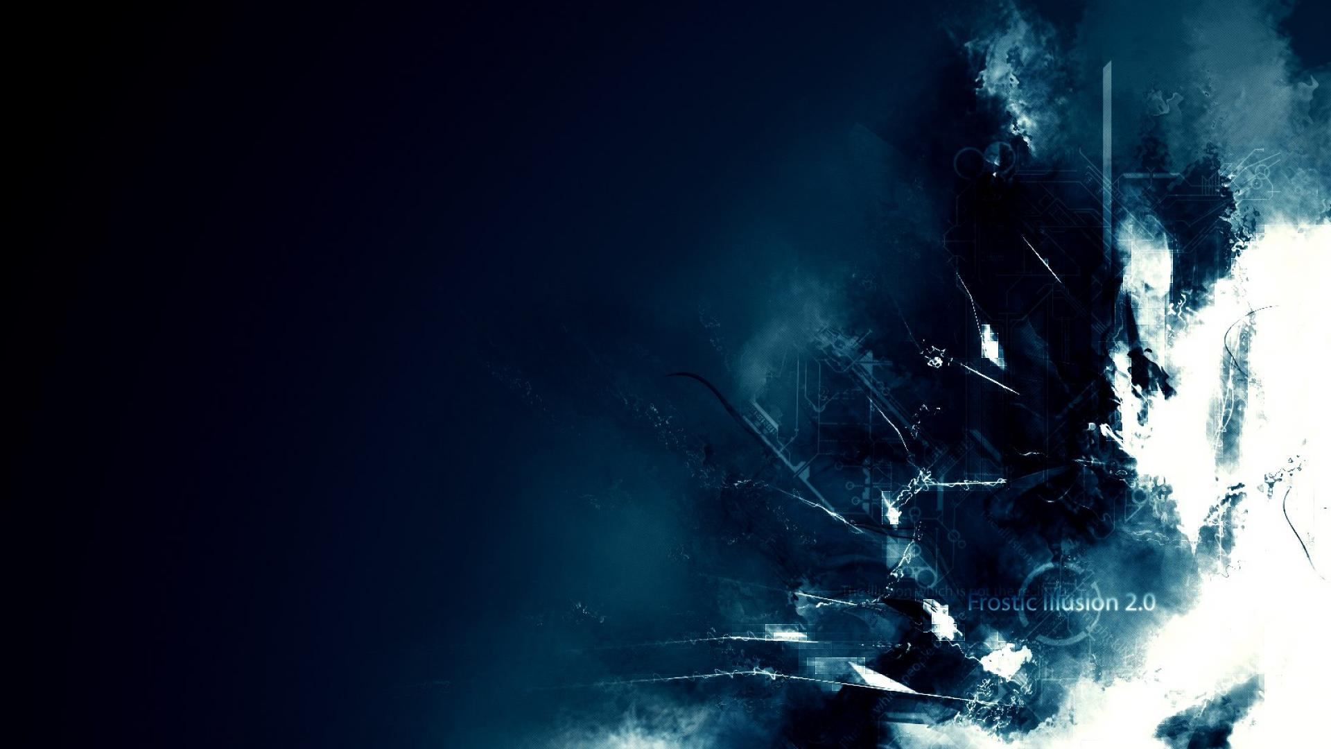 Abstract Blue Flag German Deutsch Frost Illusion Hd Wallpaper 1920x1080px