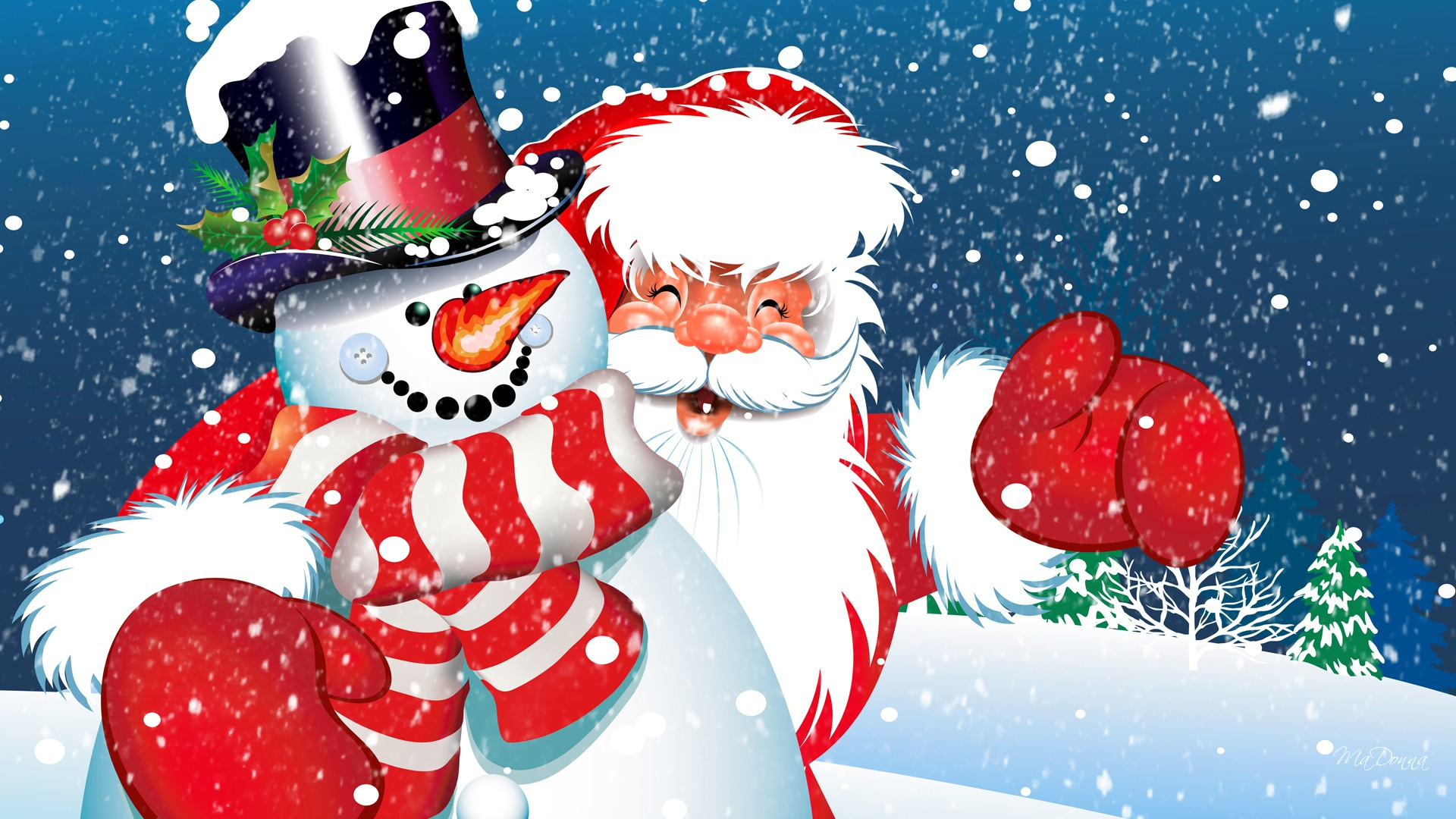 Frosty Santa Wallpapers Hd Free