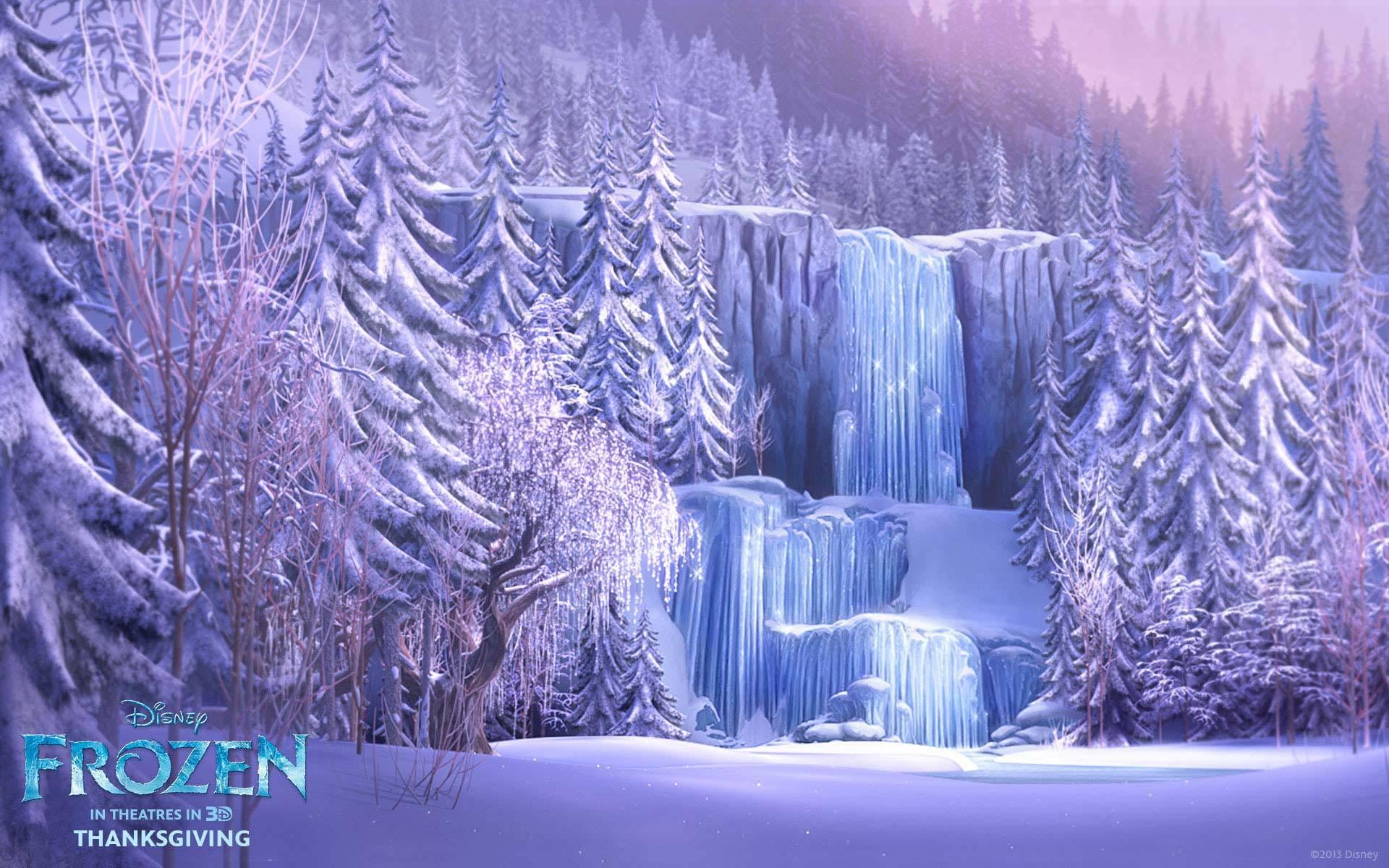 Frozen Forest Background