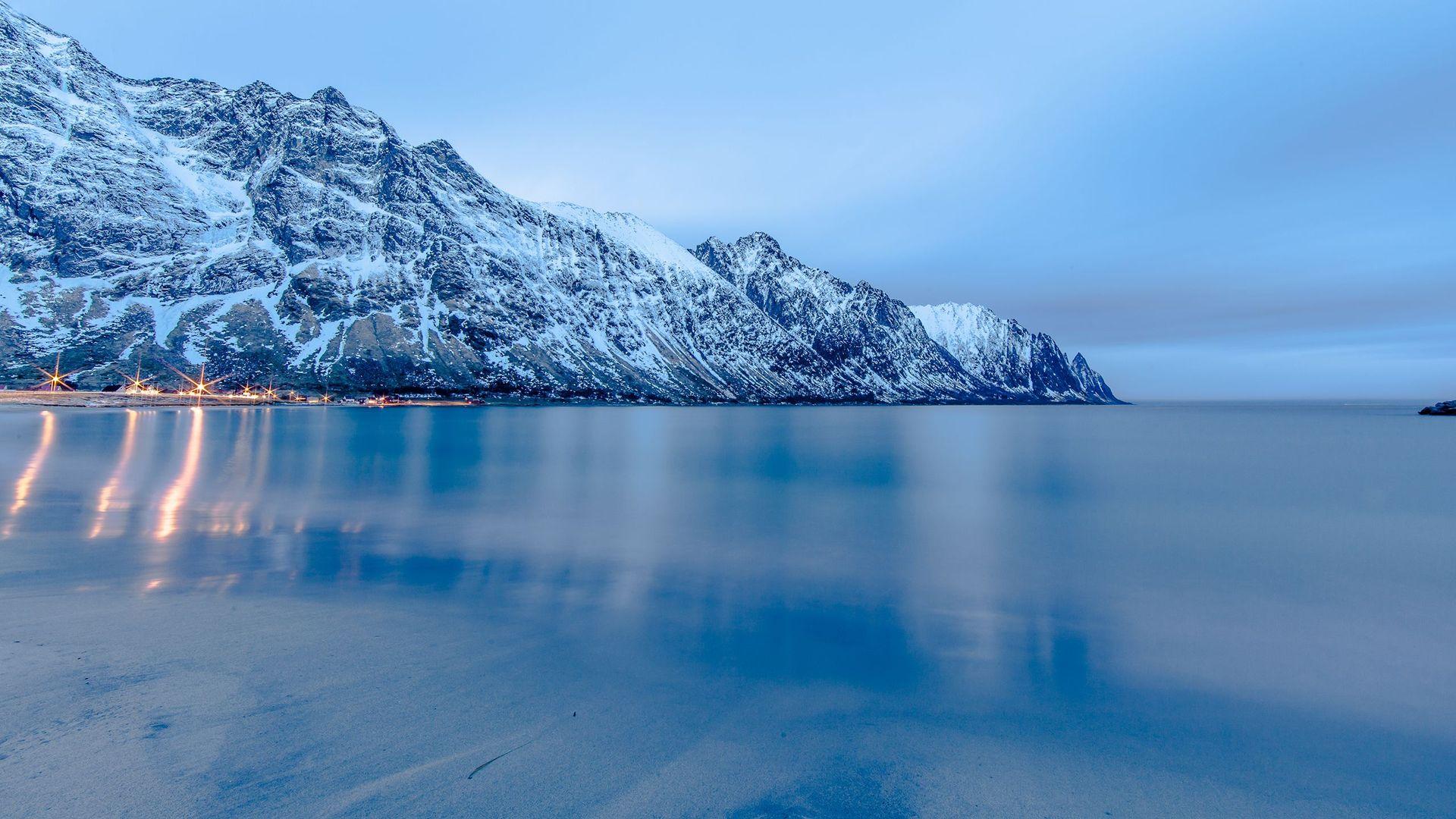 Frozen Lake Background