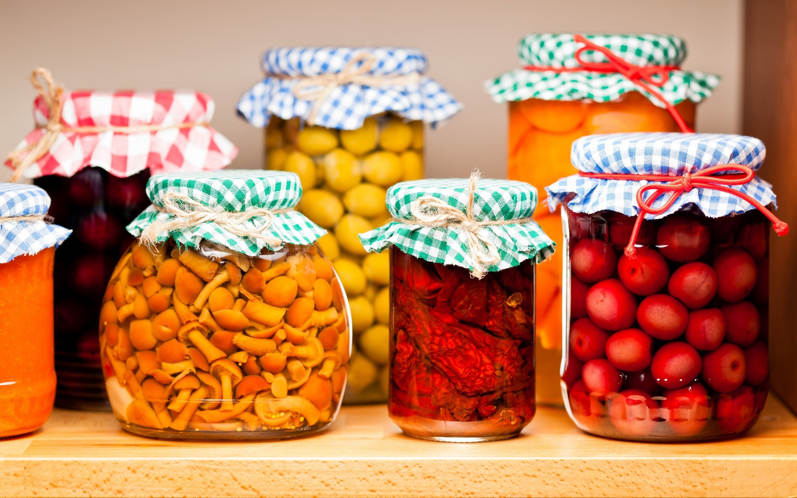 Fruits Vegetables Stored in Glass Jars Ready for The Winter