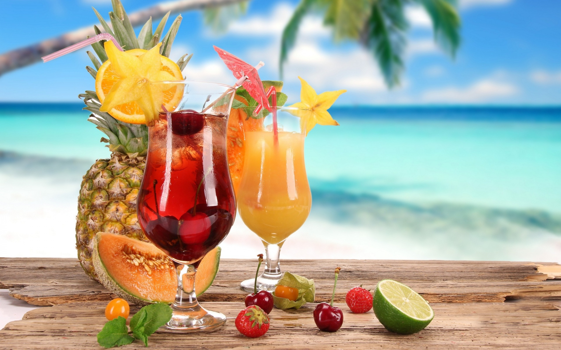 Fruity Cocktails Wallpaper in 1920x1200 Fruity Cocktails Wallpaper