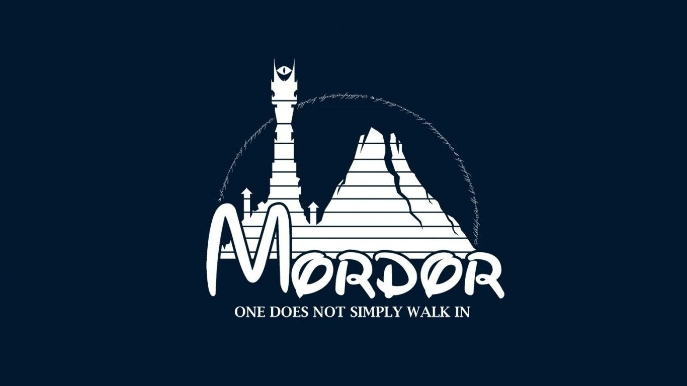 Mordor Disney Wallpaper 1366x768