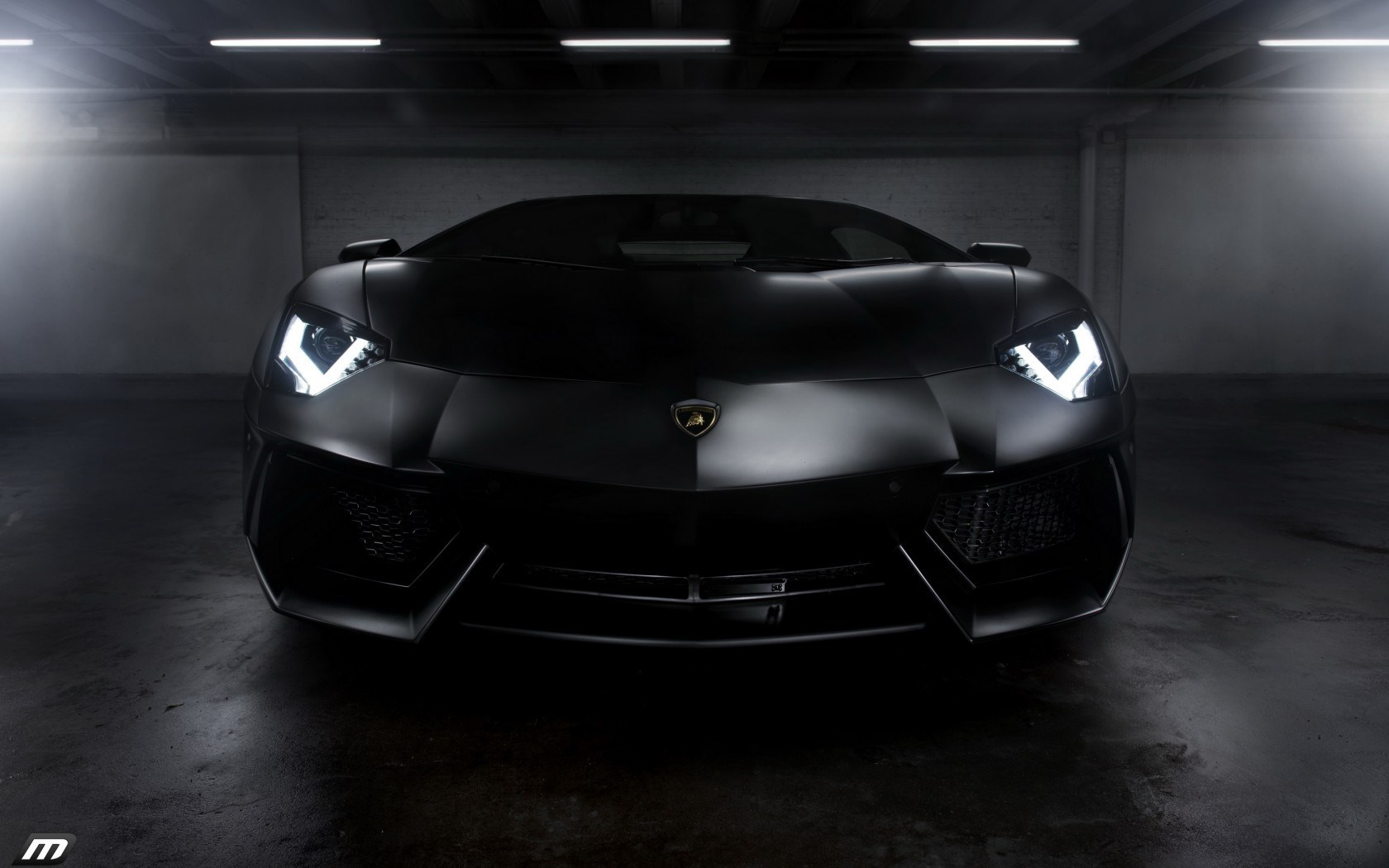 Garage Lamborghini Aventador Lights