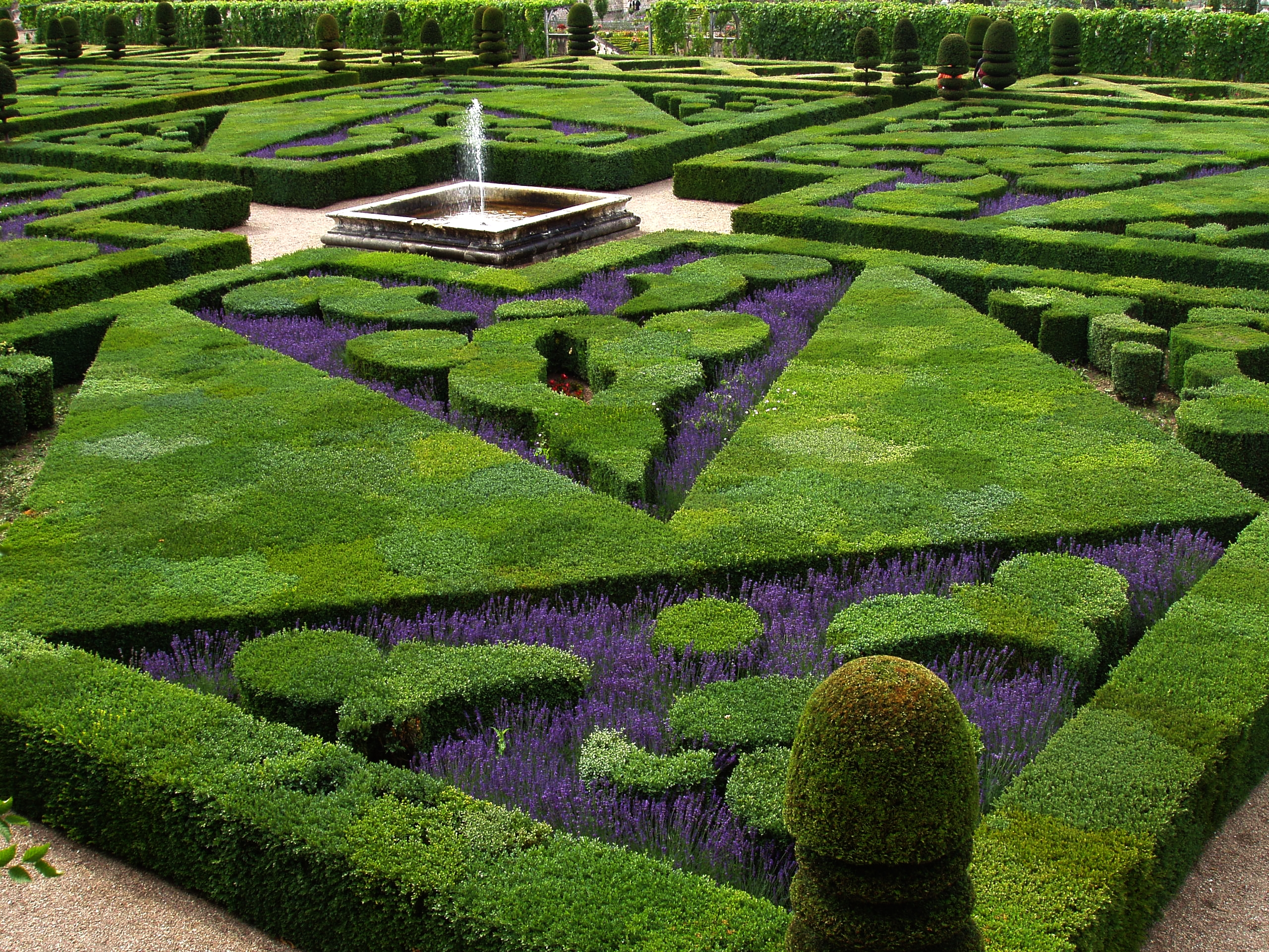 French formal garden in the Loire Valley