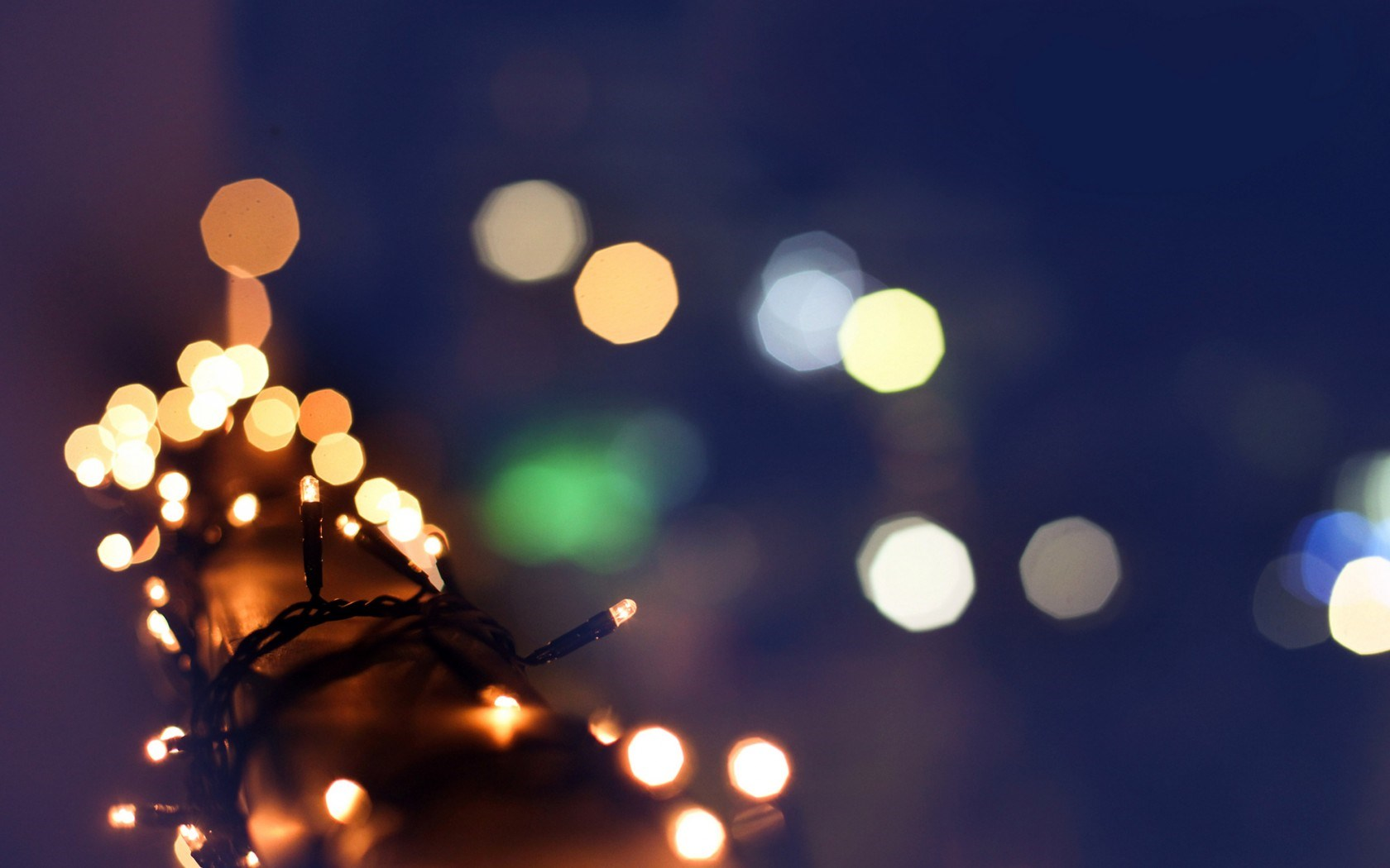 Christmas Garland Lights Winter Bokeh Blur Macro