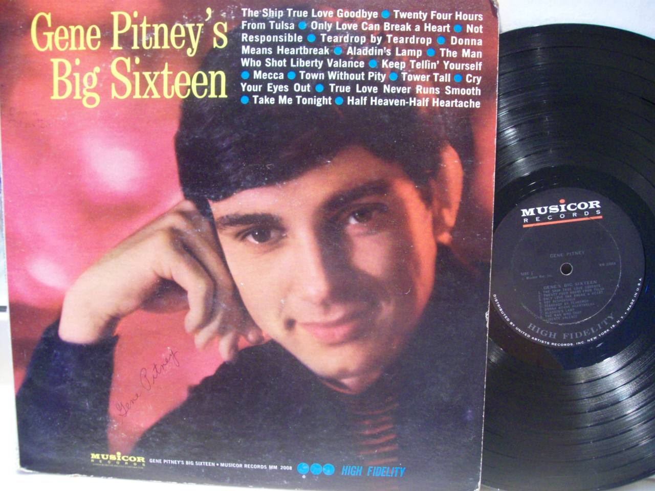 THIS IS AN AUTHENTICALLY AUTOGRAPHED LP BY GENE PITNEY.