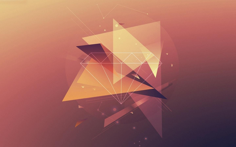 ombre geometric 3d wallpaper - photo #29