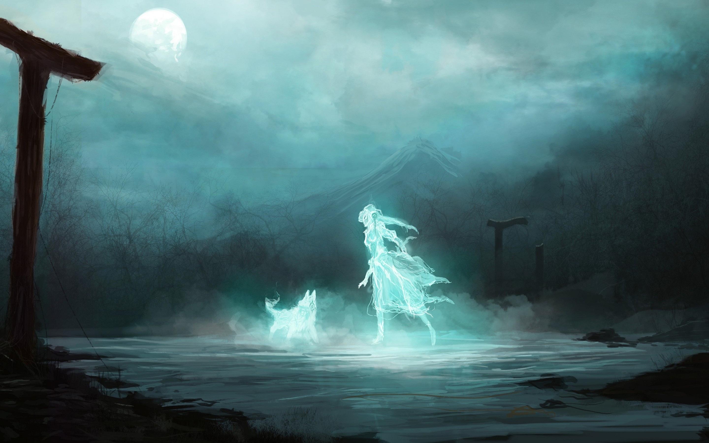 Ghost girl dog