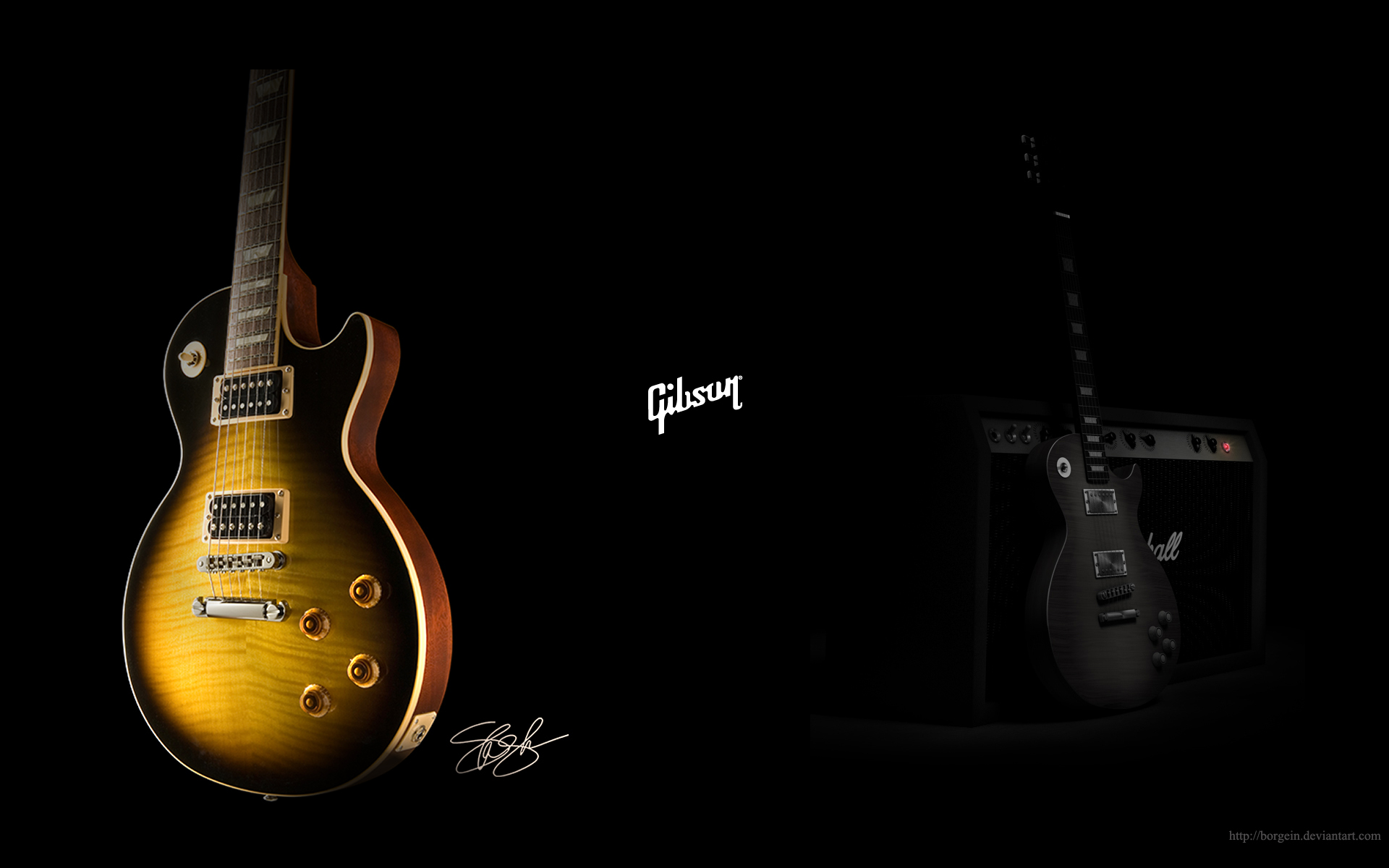 Gibson Guitar Wallpaper 1366 X 768 » gibson guitar wallpaper 1366 X 768