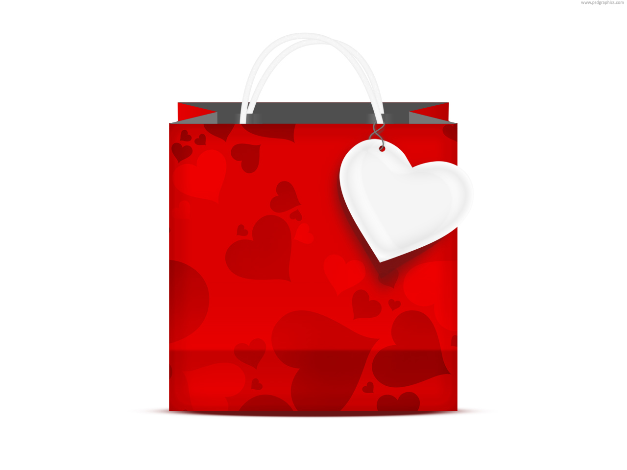 Gift Bags Hearts