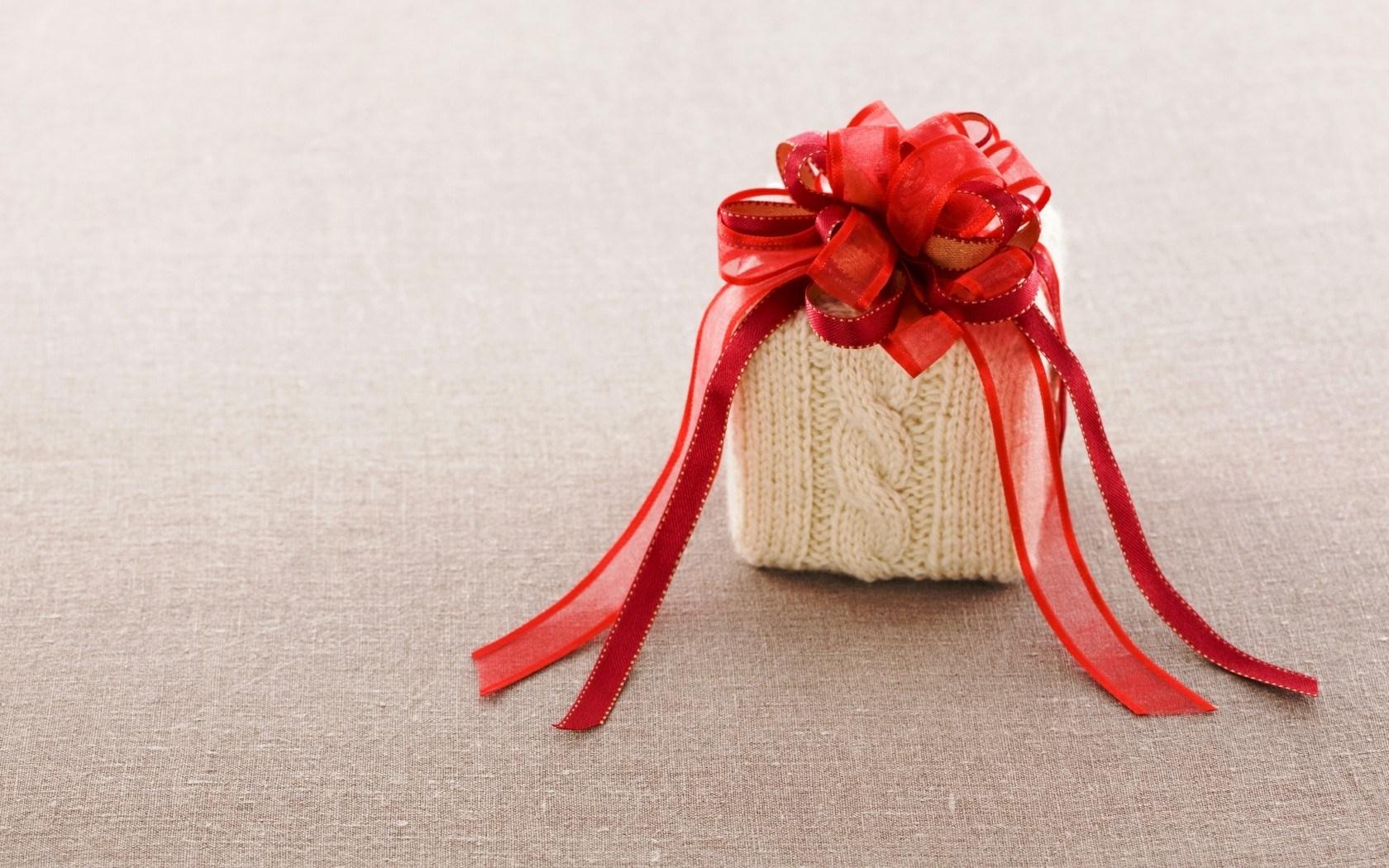 Gift Box Bow Red Ribbon