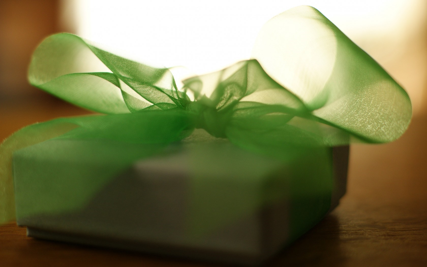 Gift Box Ribbon Bow Green