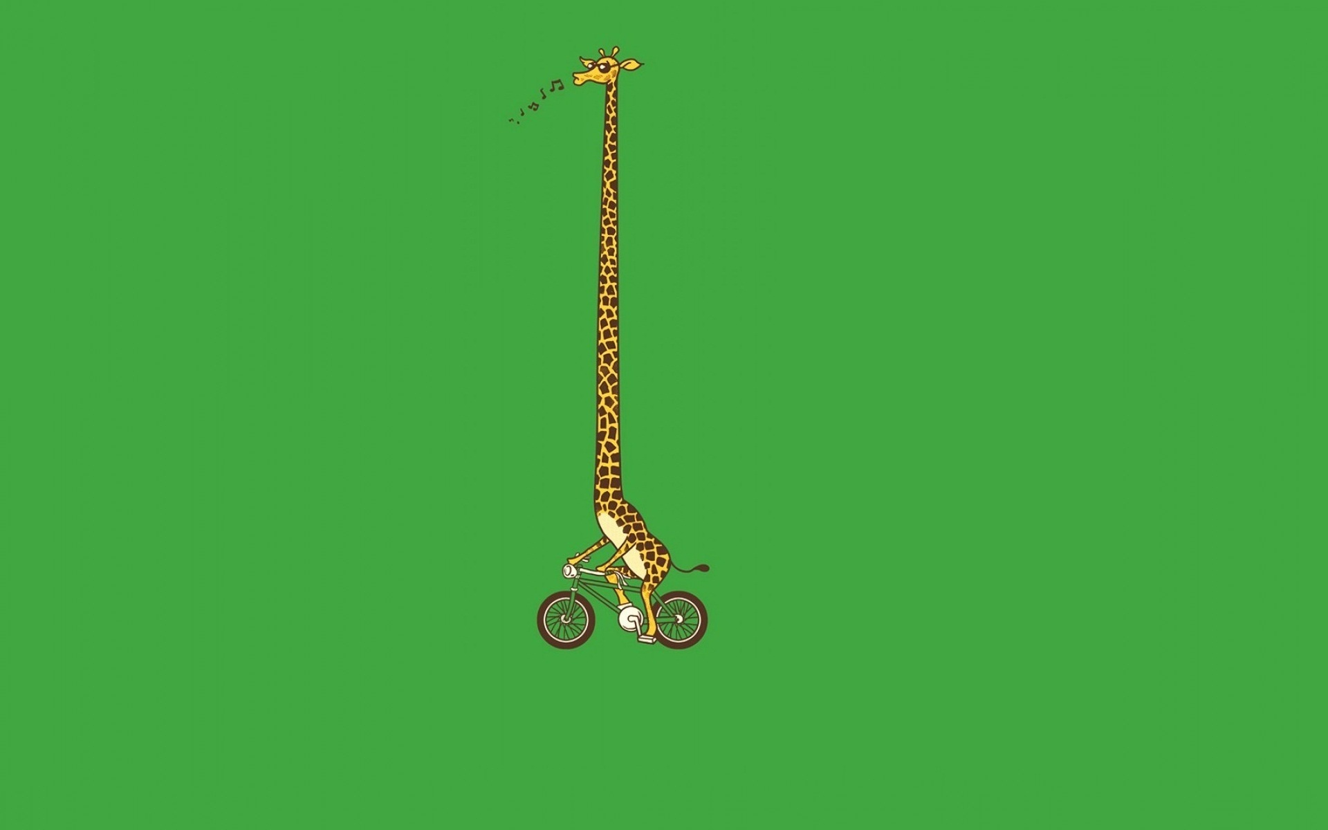 Giraffe Bike Art Funny