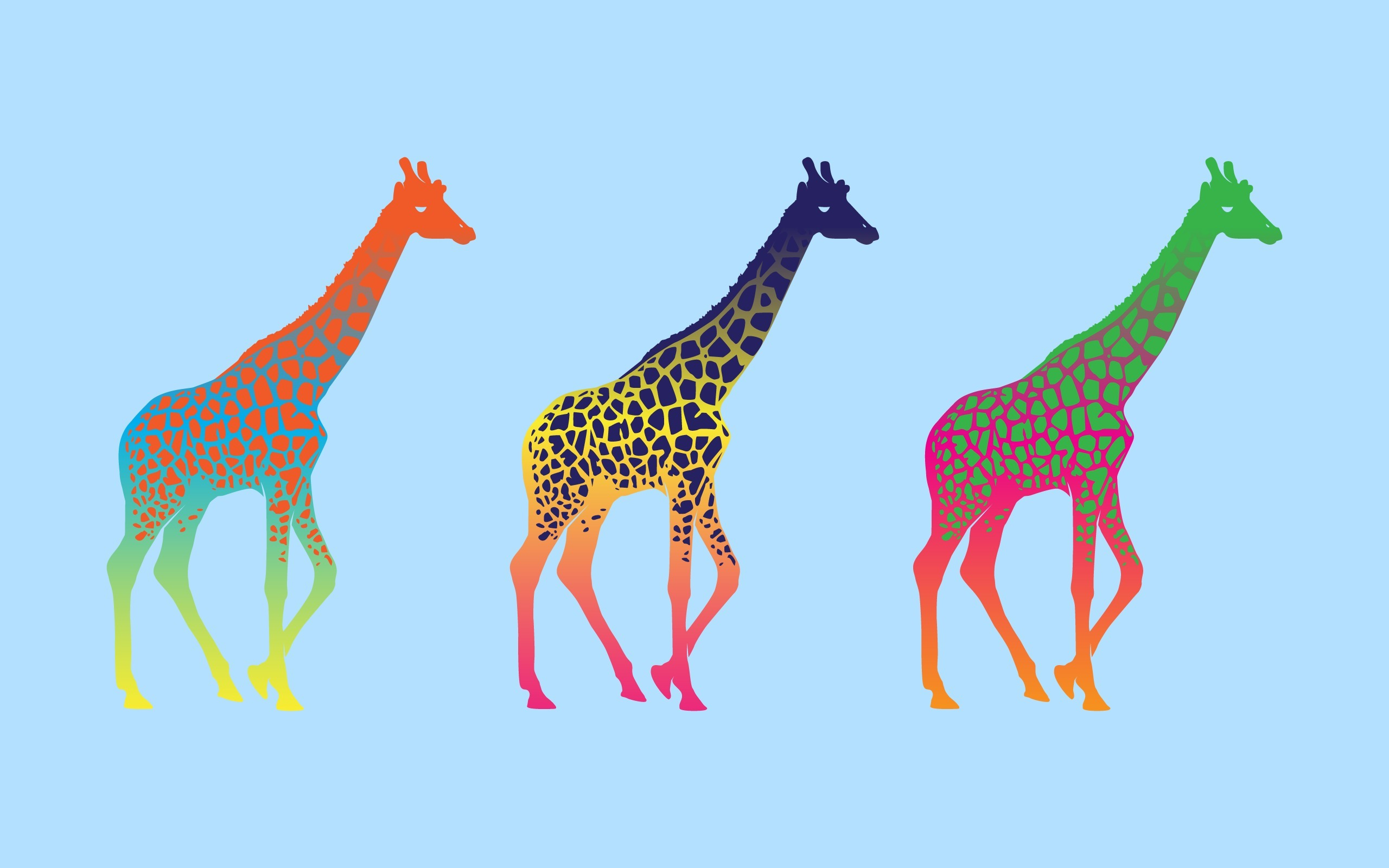 Giraffes Color Art