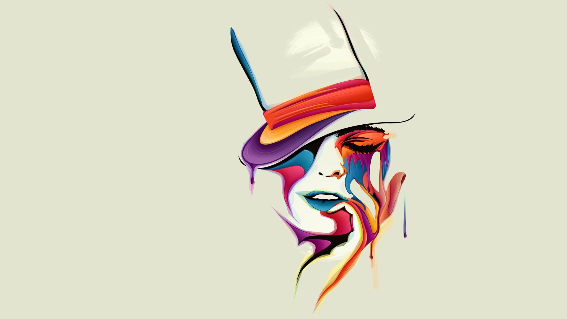 Girl Abstract Art