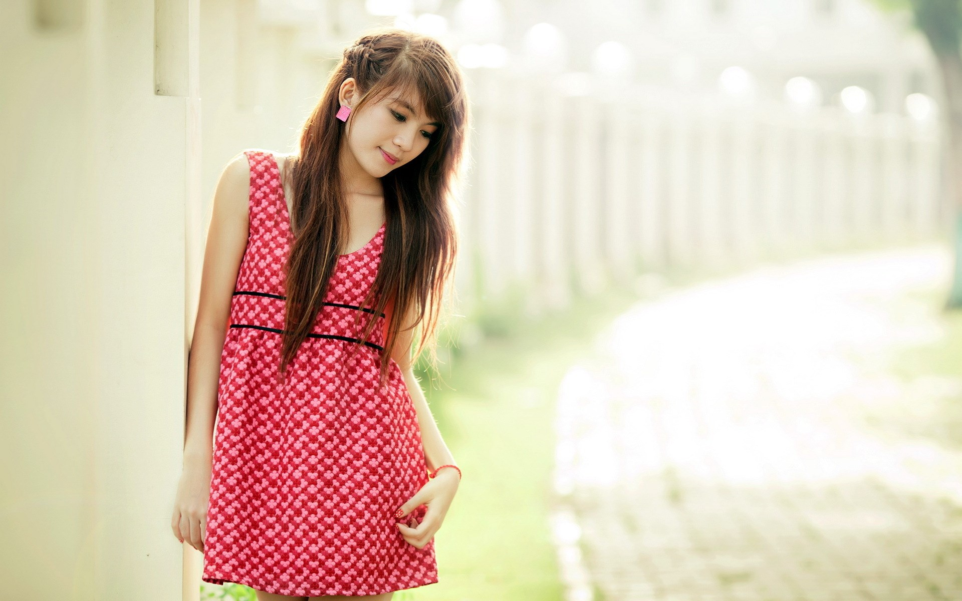 Girl Asian Dress Mood
