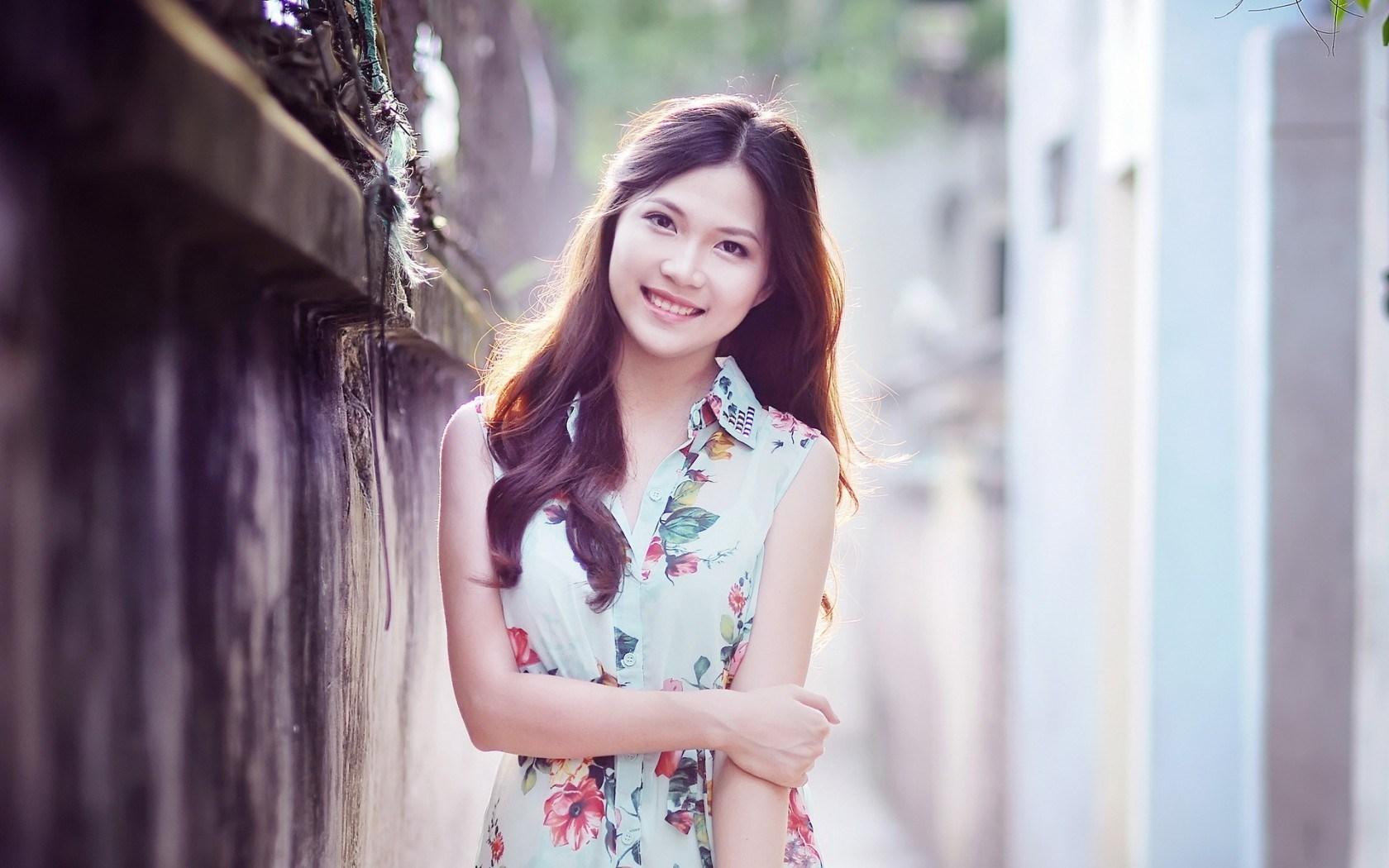 Girl Asian Smile Mood