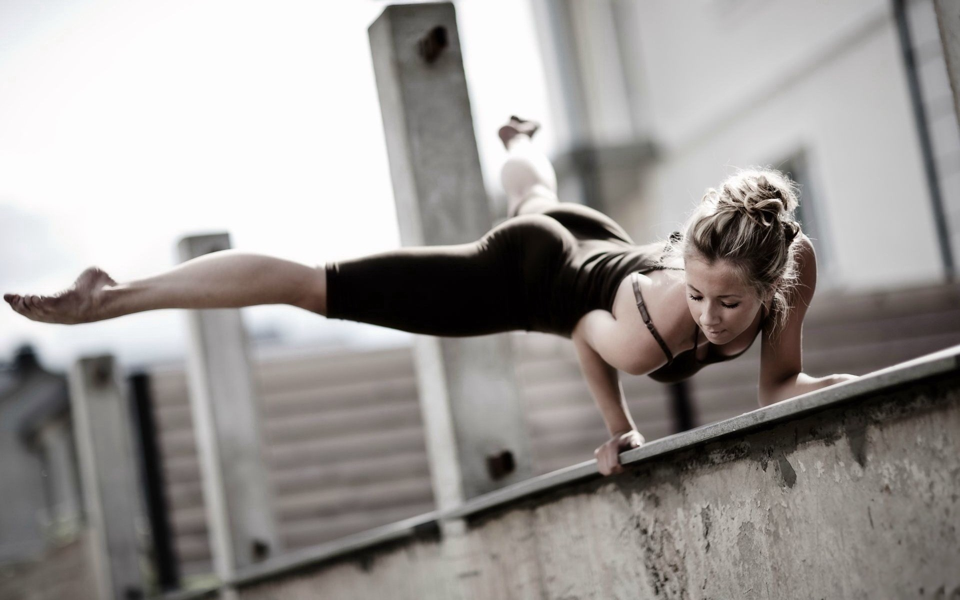 Girl Athlete Fitness Workout Strength Sport