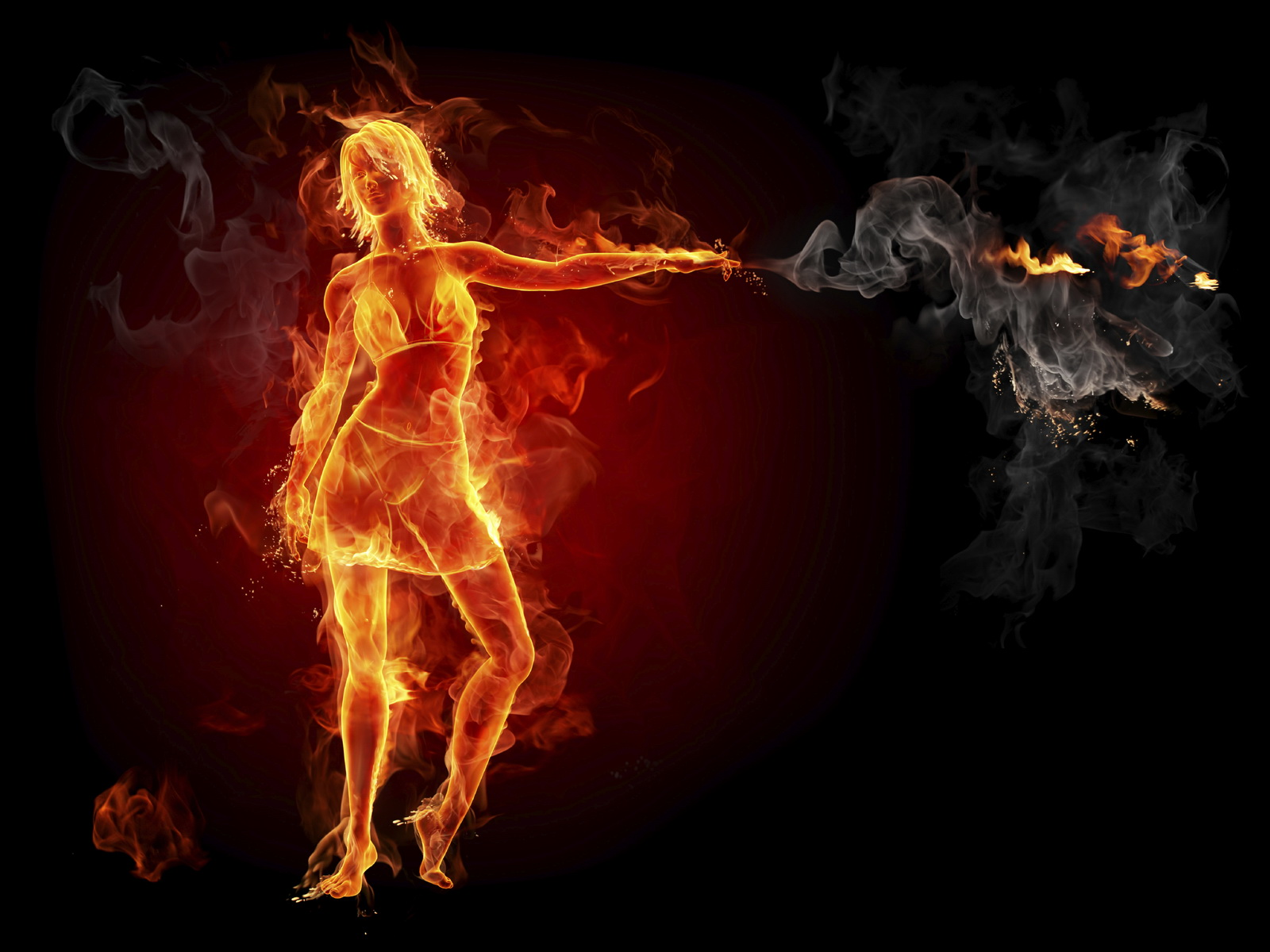 Fire Girl Wallpapers Free Screensaver