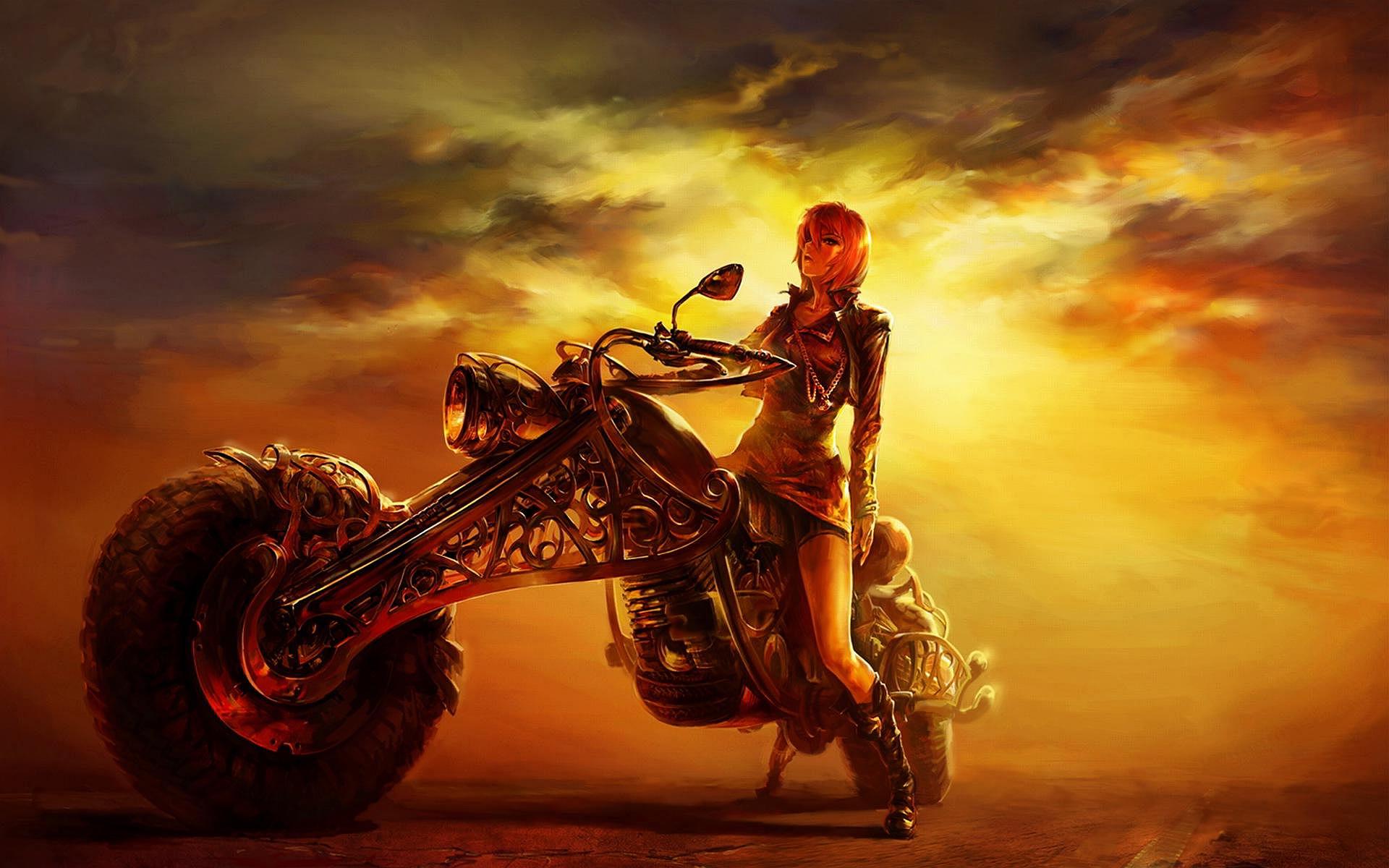 Girl Bike Art