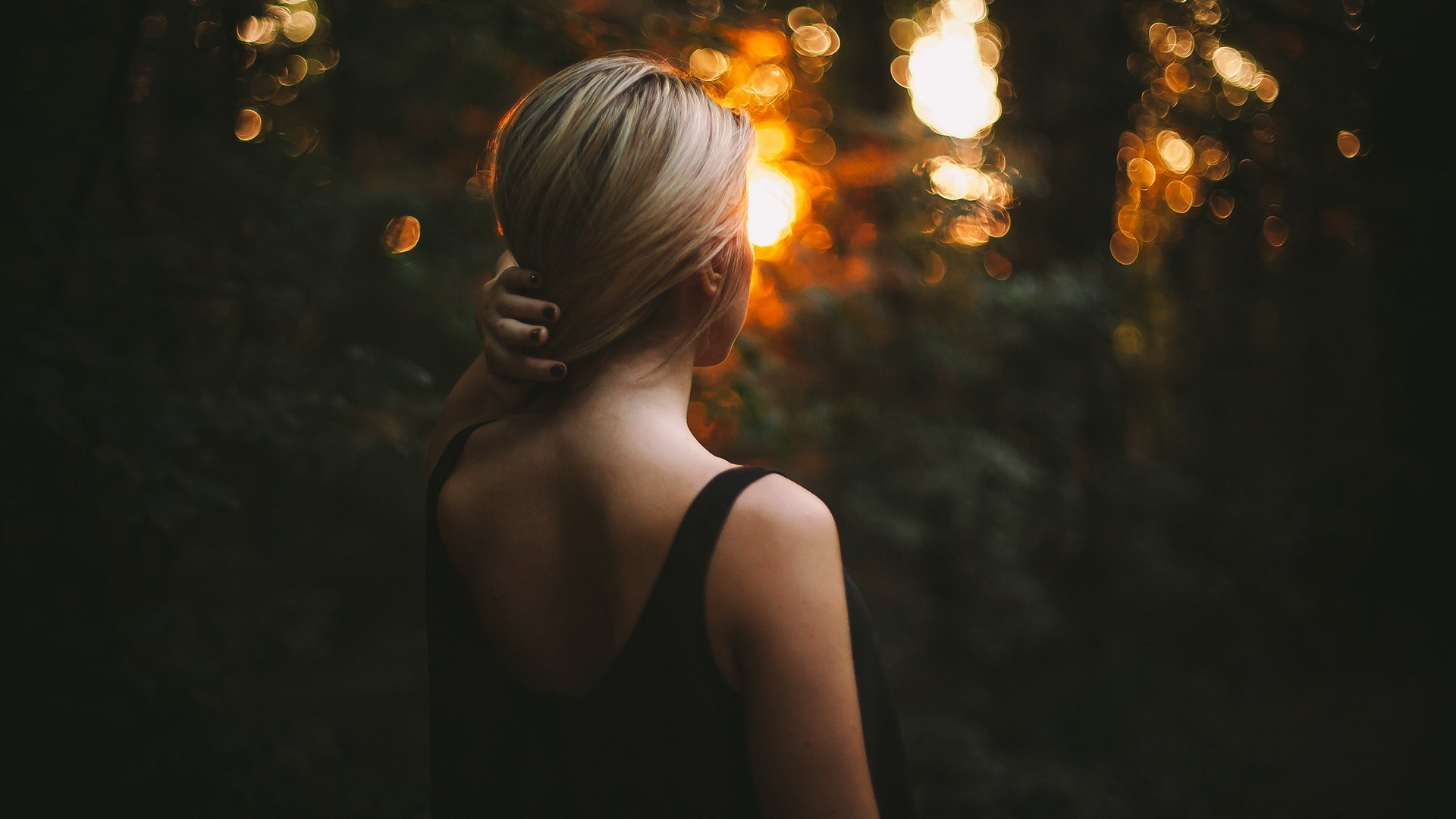 Blonde Girl Bokeh Photo