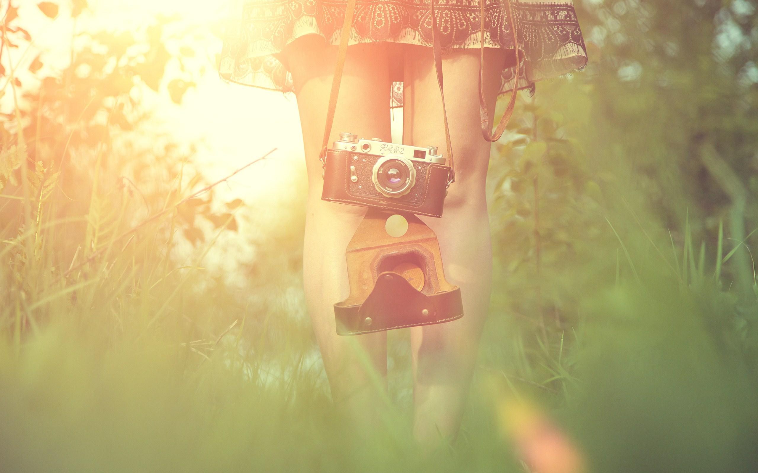 Bokeh Girl Camera Mood HD Wallpaper