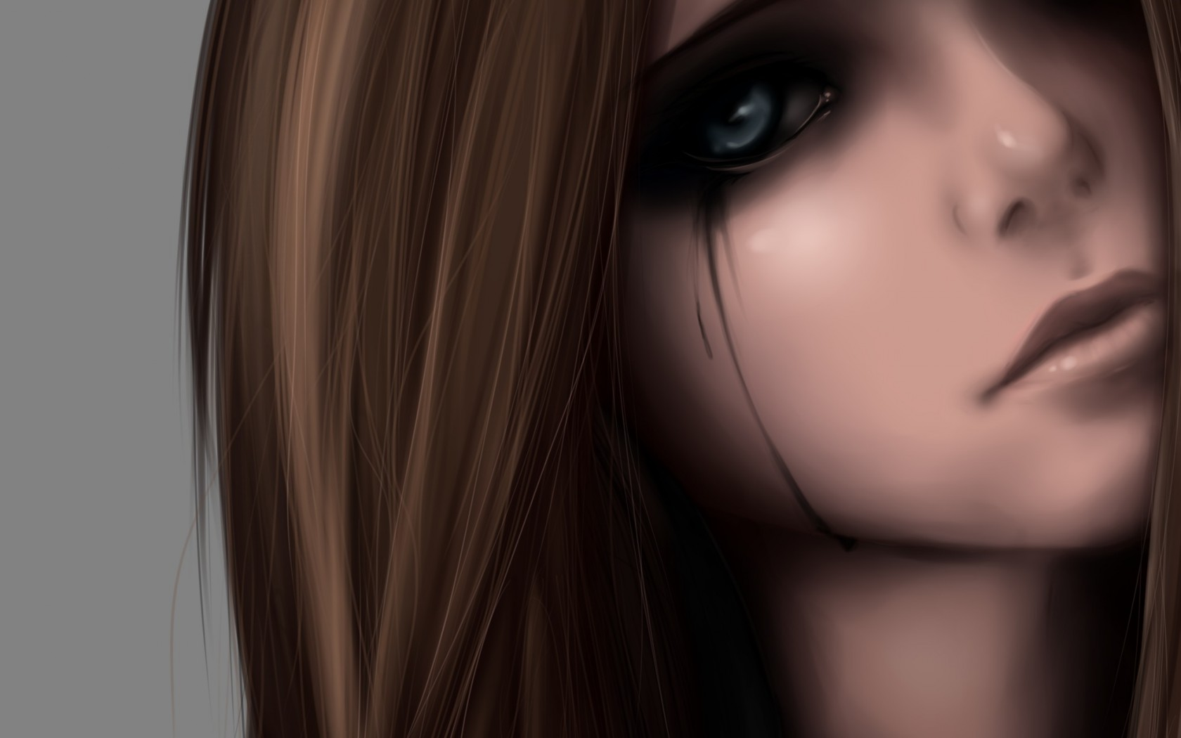 Girl crying art