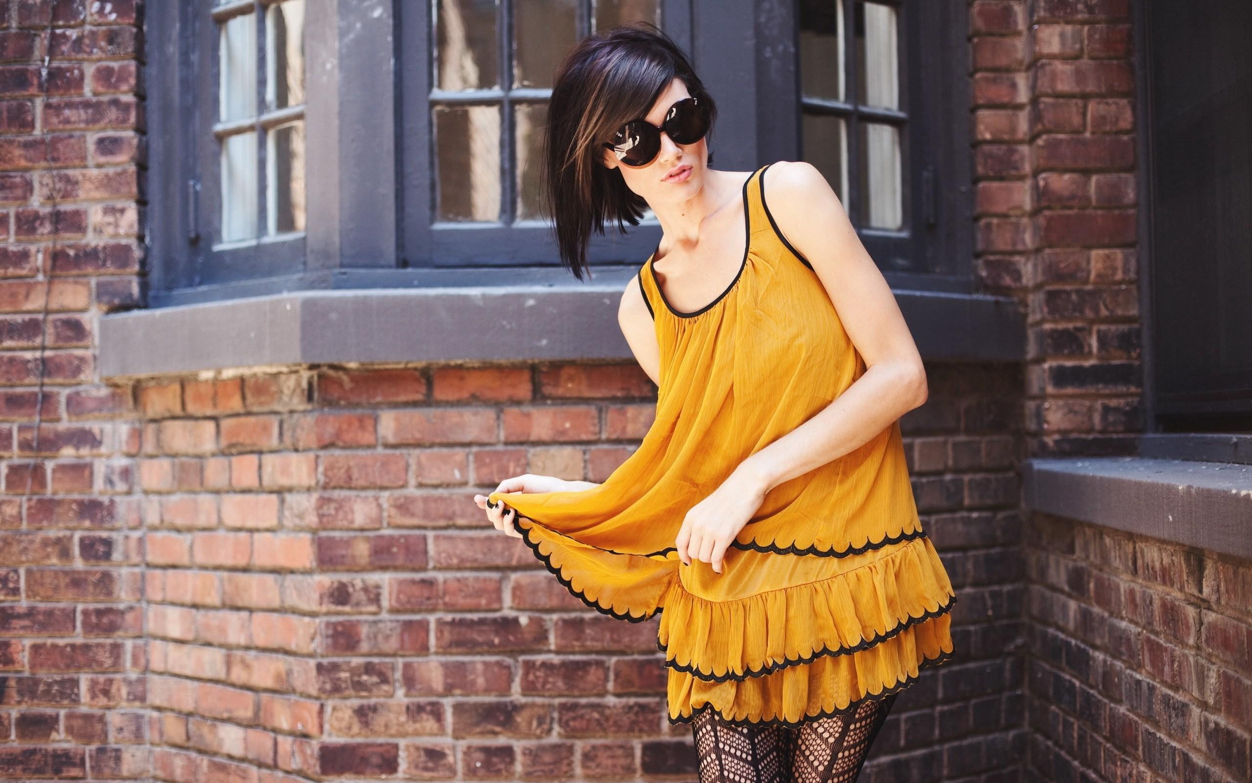 Girl Dress Yellow Fashion