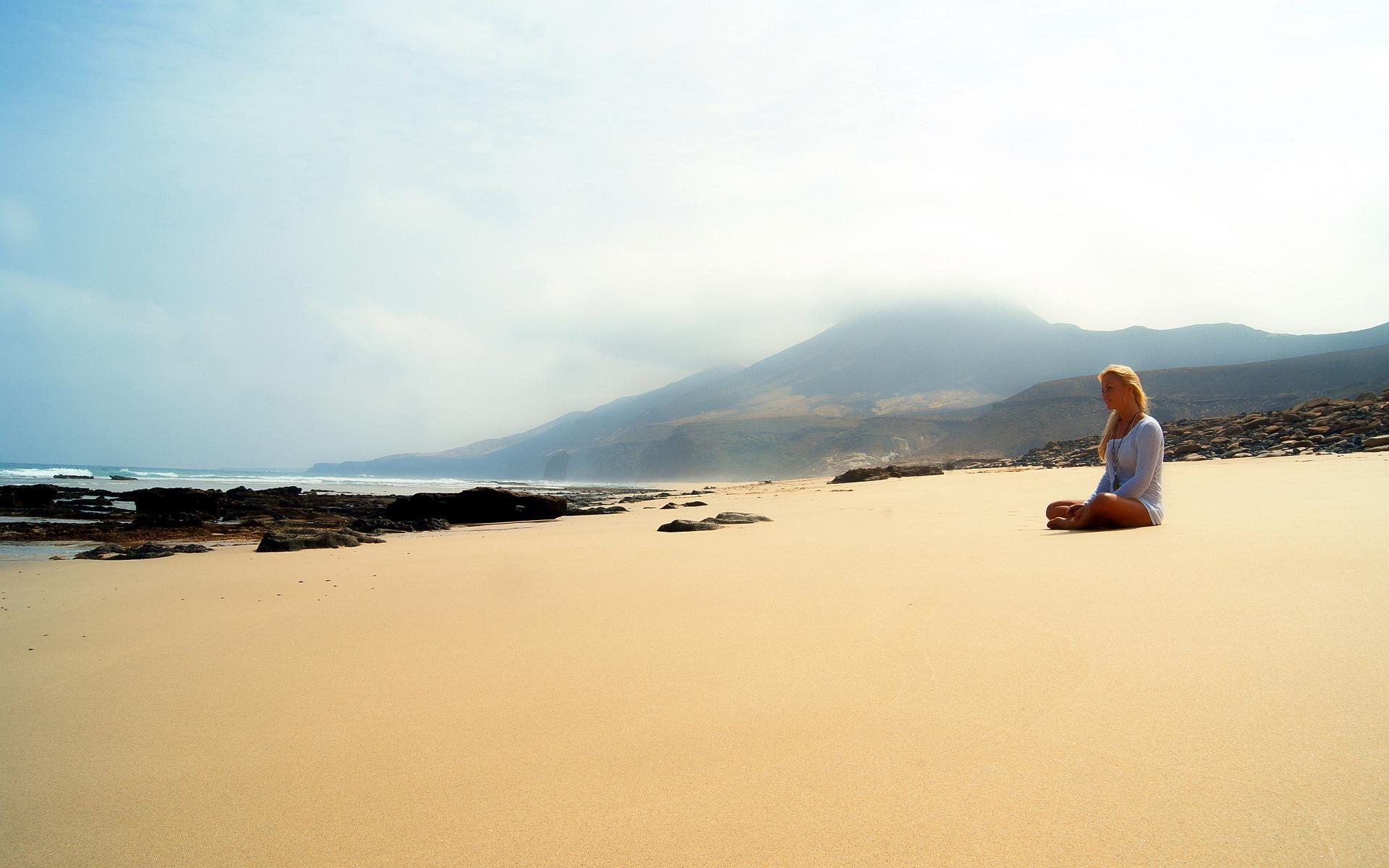 Girl enjoy beach