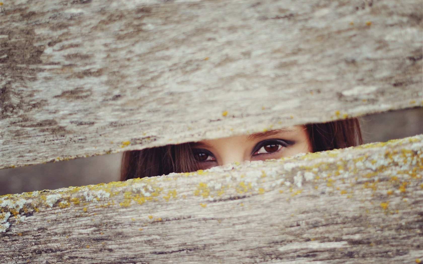 girl eyes fence