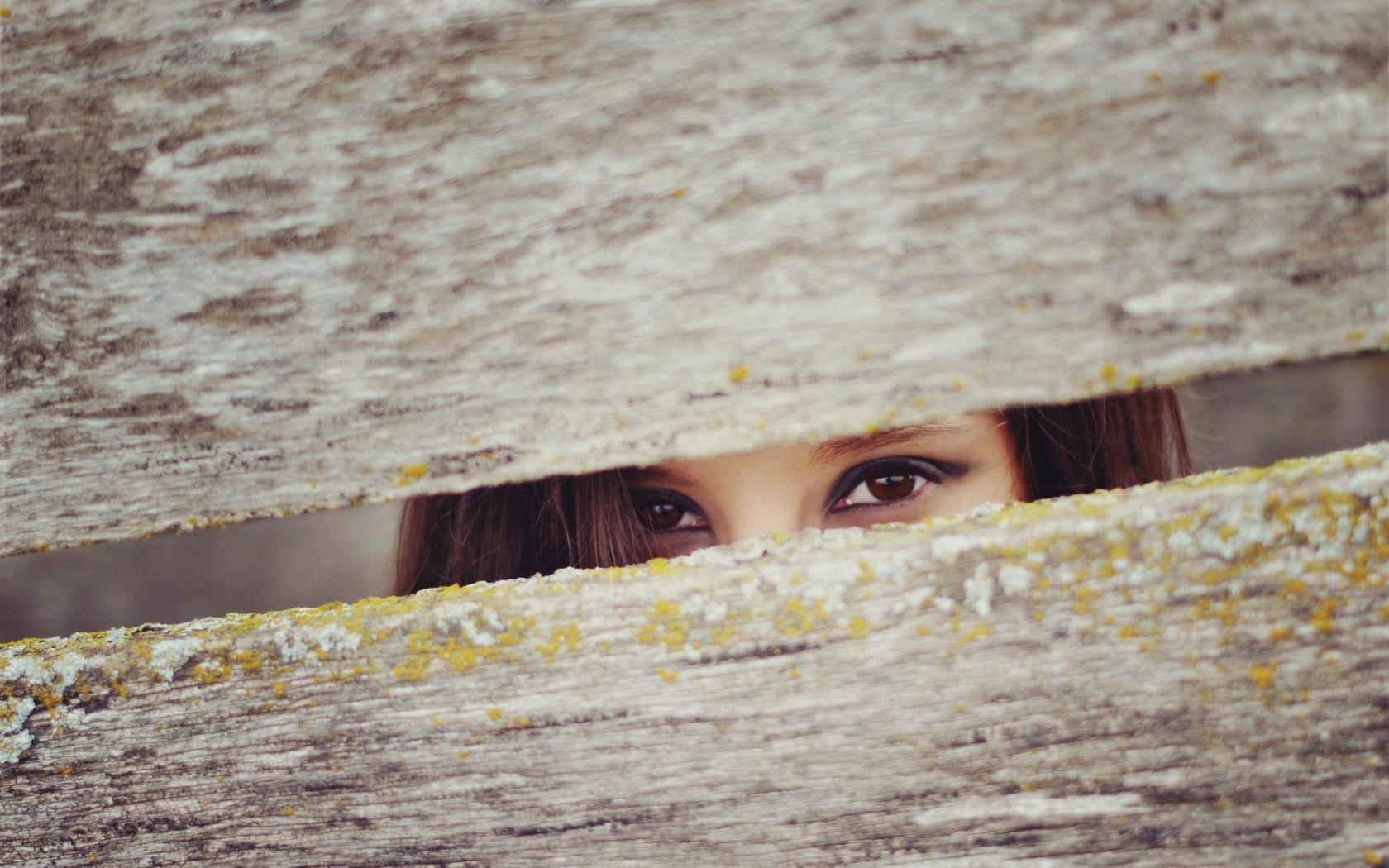 girl eyes fence