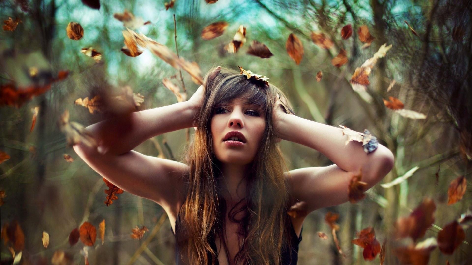 Autumn Leaves Girl